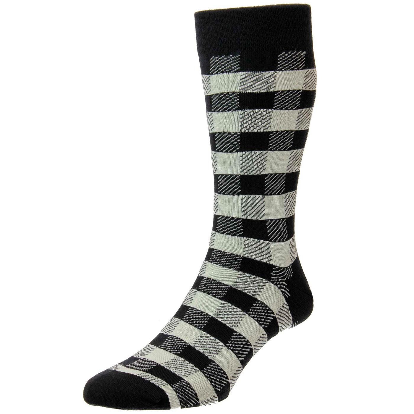 + Cooper PANTHERELLA Gingham Check Socks (B/C)