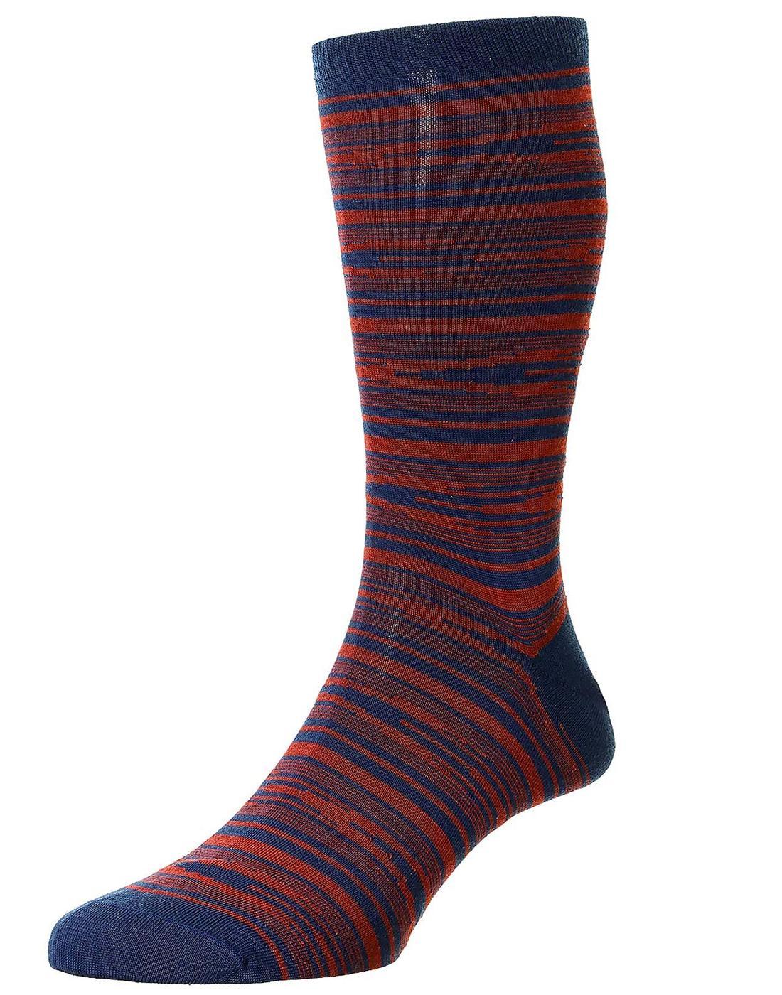 + Cremer PANTHERELLA Scrambled Stripe Merino Socks