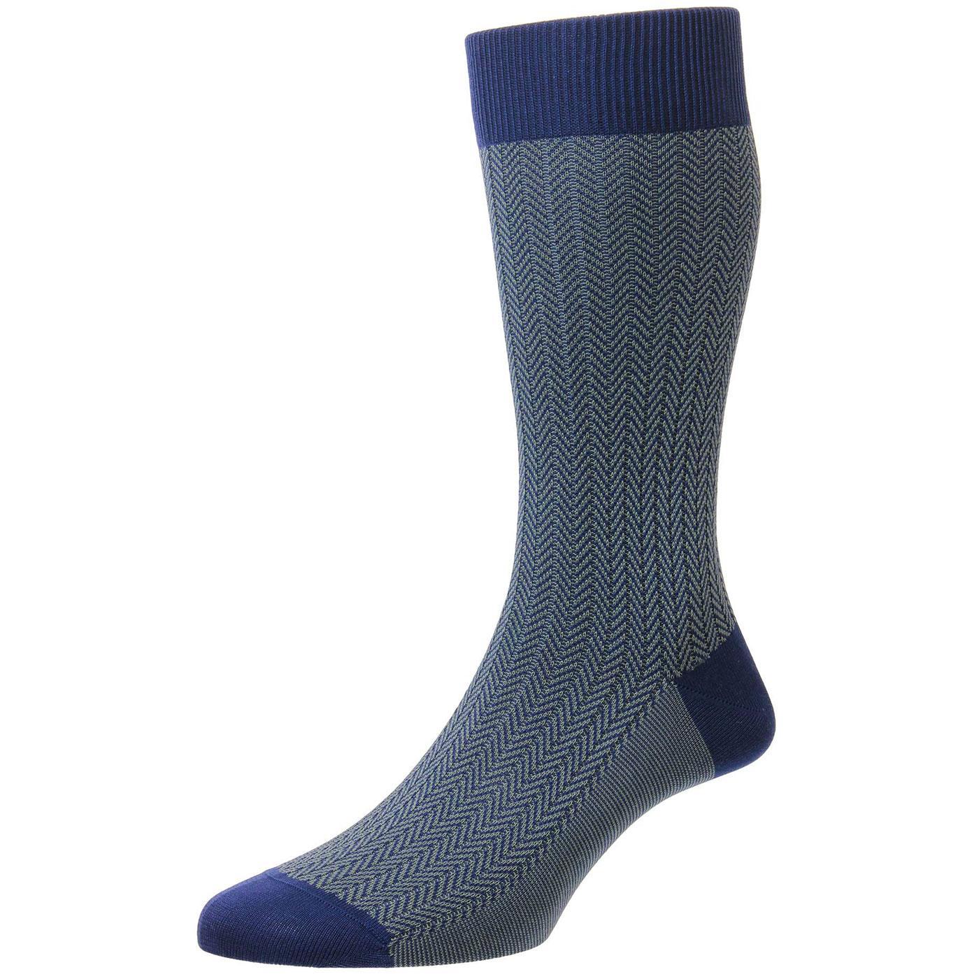 + Fabian PANTHERELLA Men's Mod Herringbone Socks