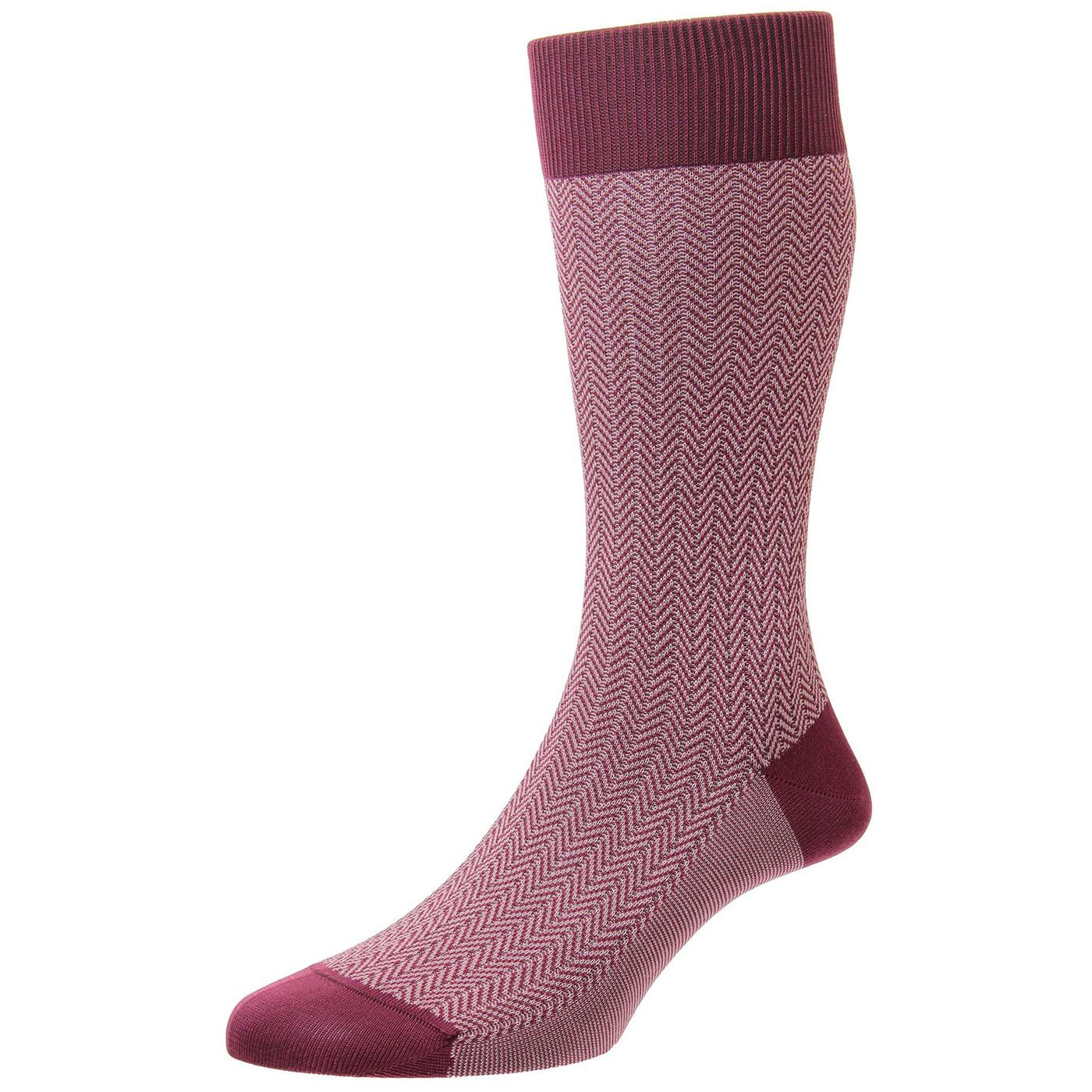 + Fabian PANTHERELLA Men's Mod Herringbone Socks B