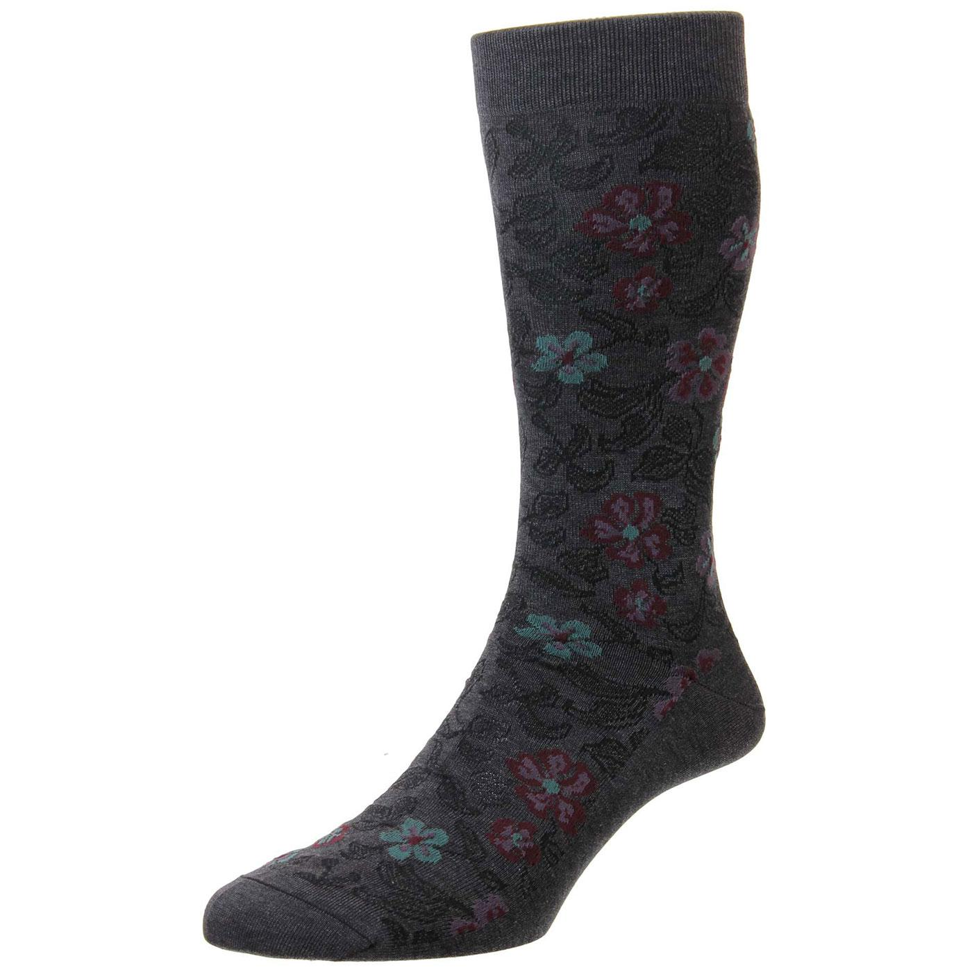 + Farren PANTHERELLA Men's Vintage Floral Socks DG