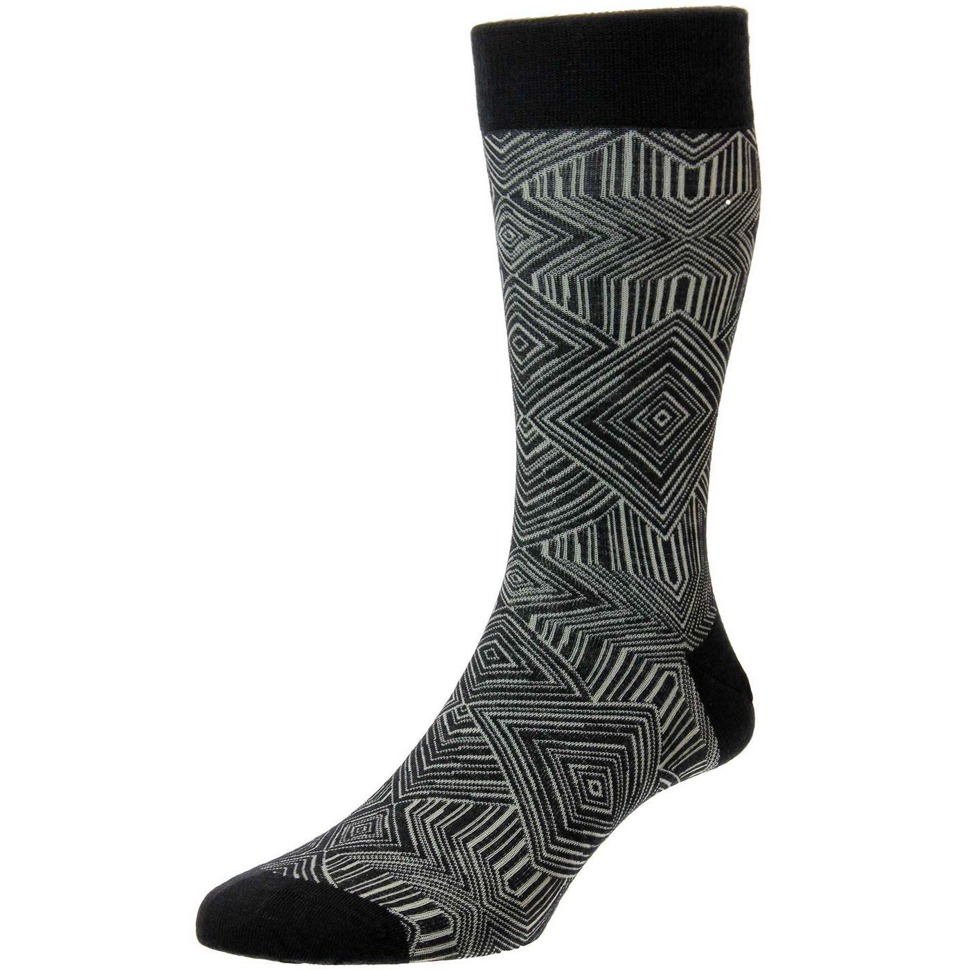 + Glaser PANTHERELLA Op Art Made in England Socks