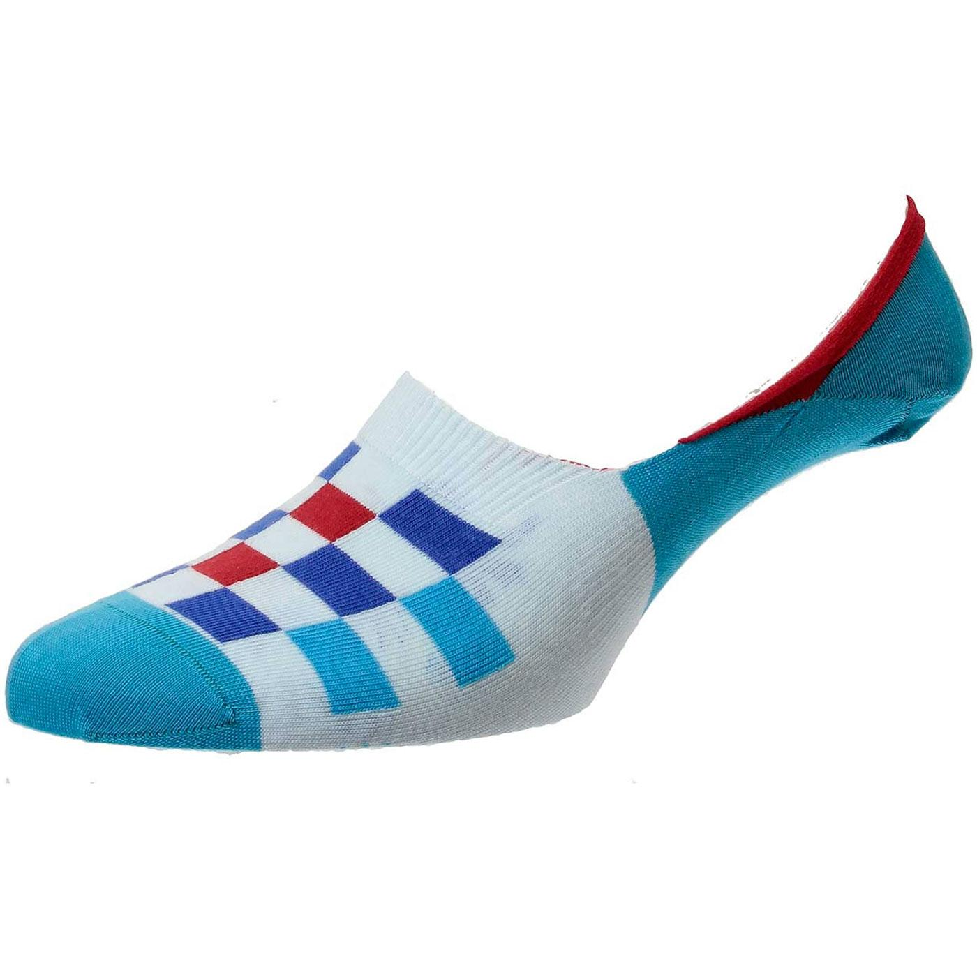 + Calero PANTHERELLA Chequerboard Invisible Socks