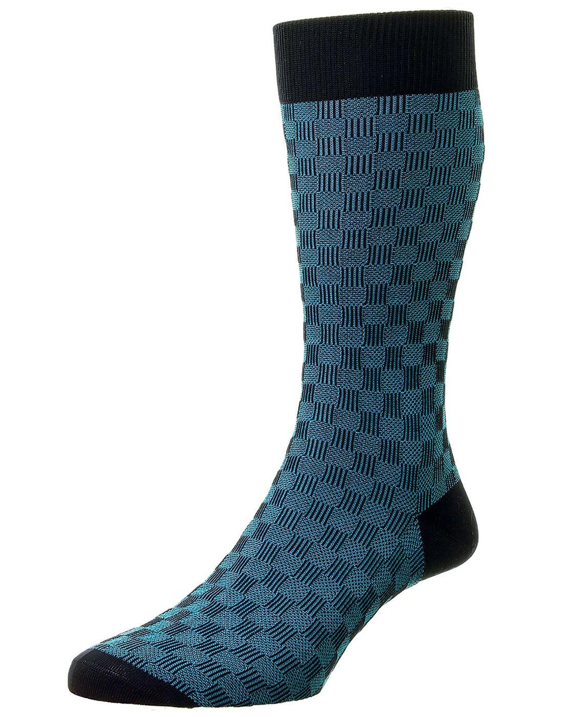 + Patino PANTHERELLA Men's 3D Basketweave Socks N