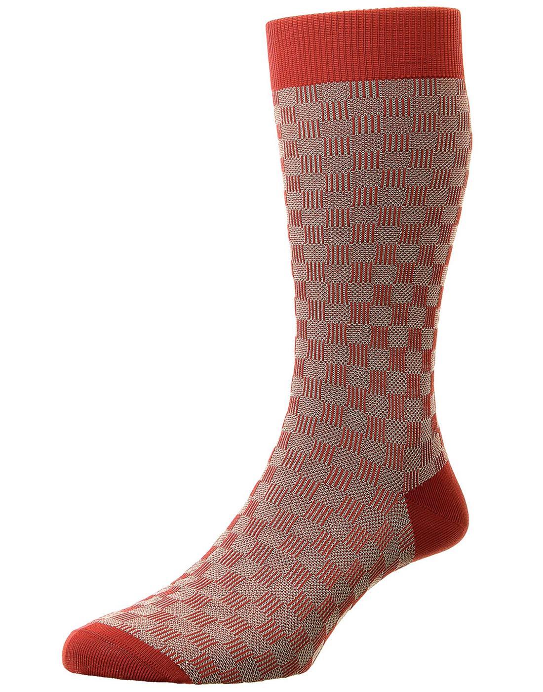 + Patino PANTHERELLA Men's 3D Basketweave Socks R
