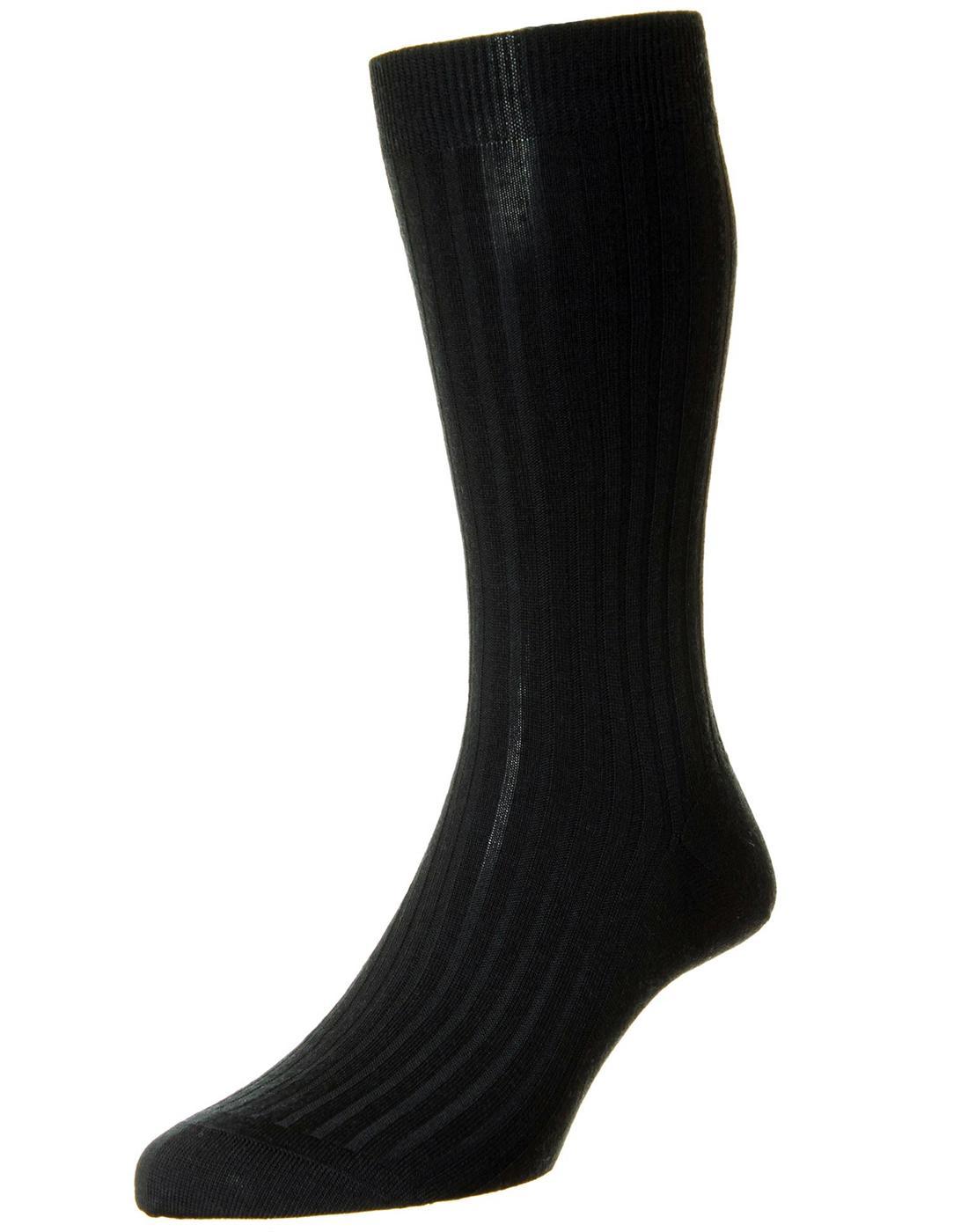 + PANTHERELLA Retro Mod Plain Knit Ribbed Socks B