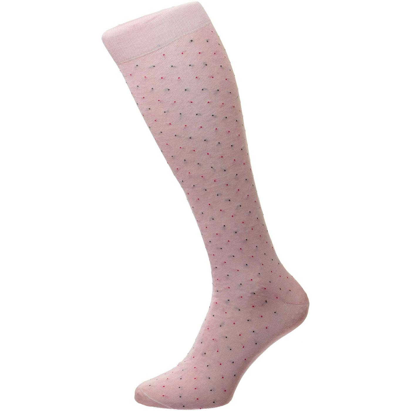 + Regent PANTHERELLA Pin Dot Fil d'Ecosse Socks