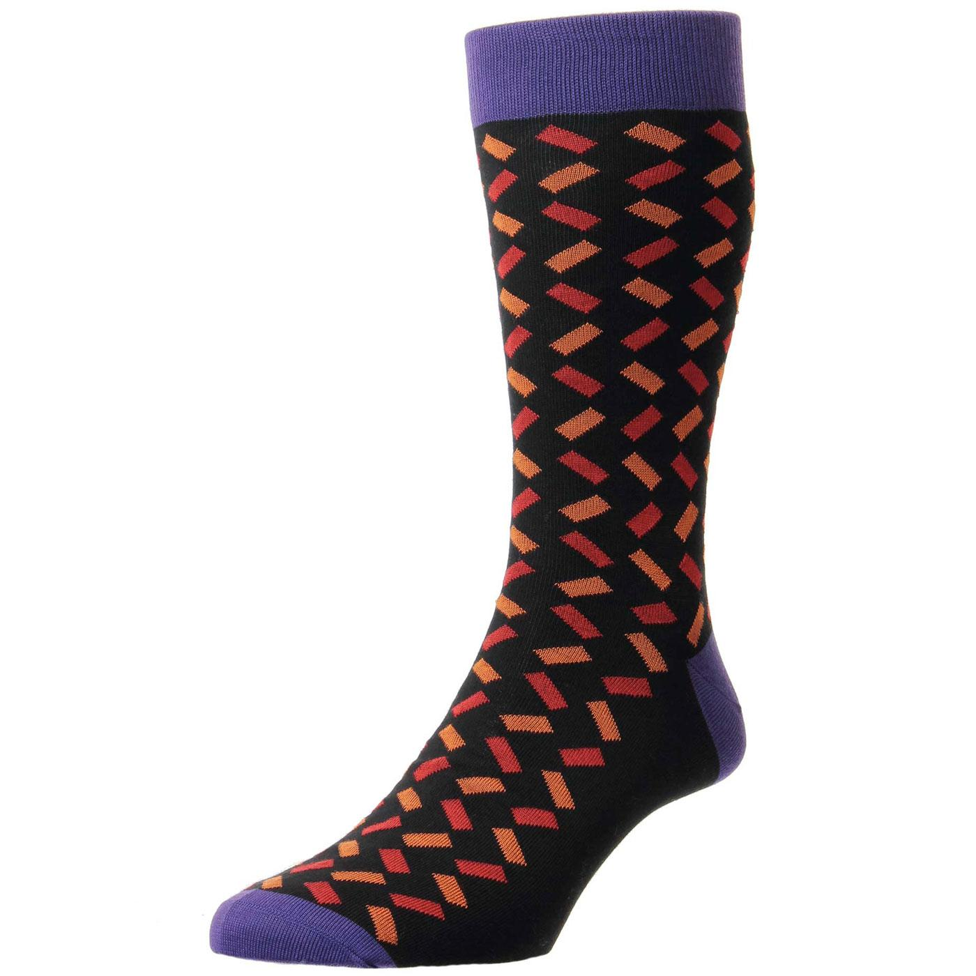 + Allen PANTHERELLA Men's Retro Pattern Socks