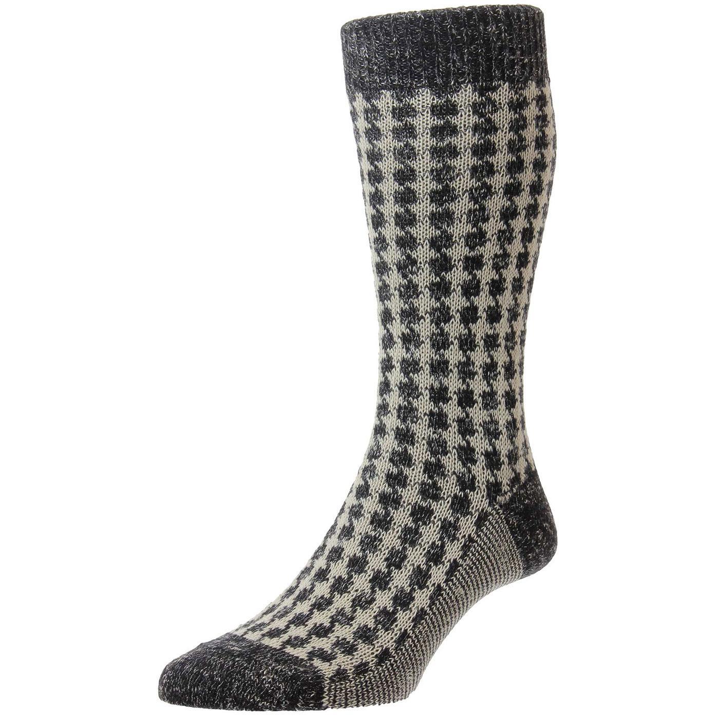 + Hoyland PANTHERELLA Houndstooth Cashmere Socks