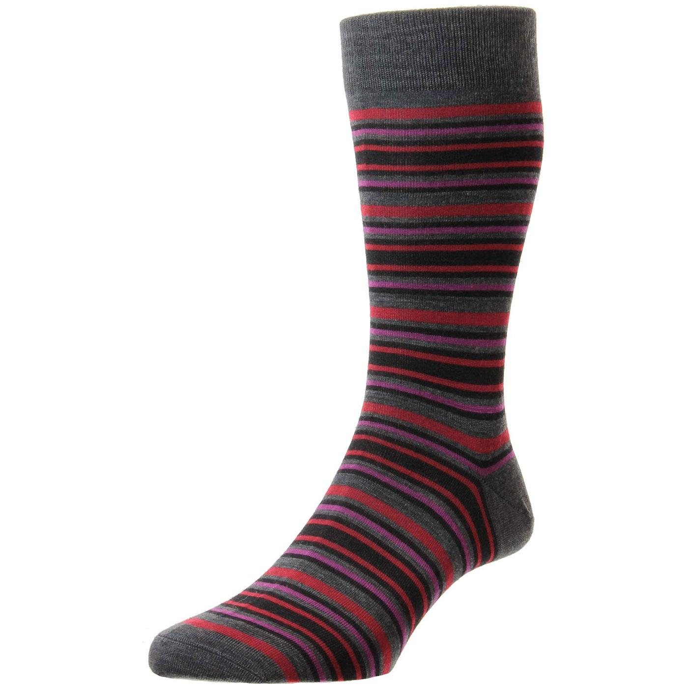 + Piper PANTHERELLA Men's Mod Striped Socks G