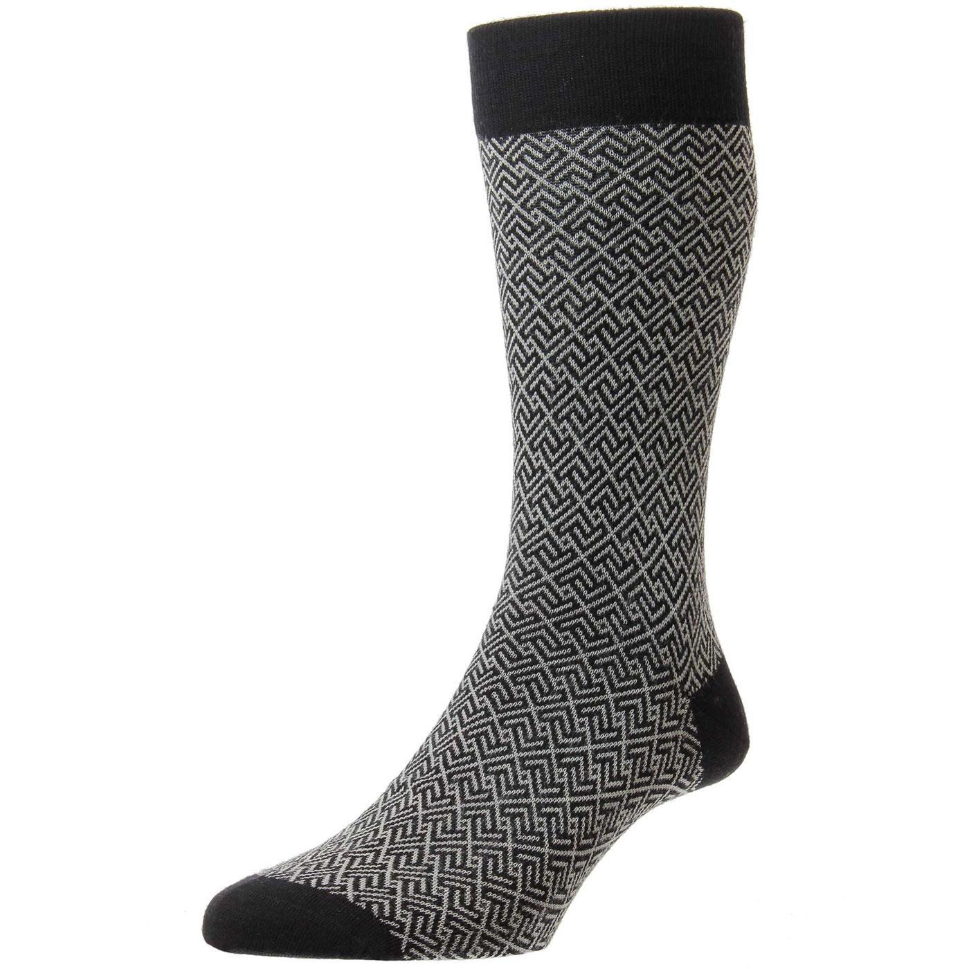+ Porter PANTHERELLA Men's Mod Pattern Socks B
