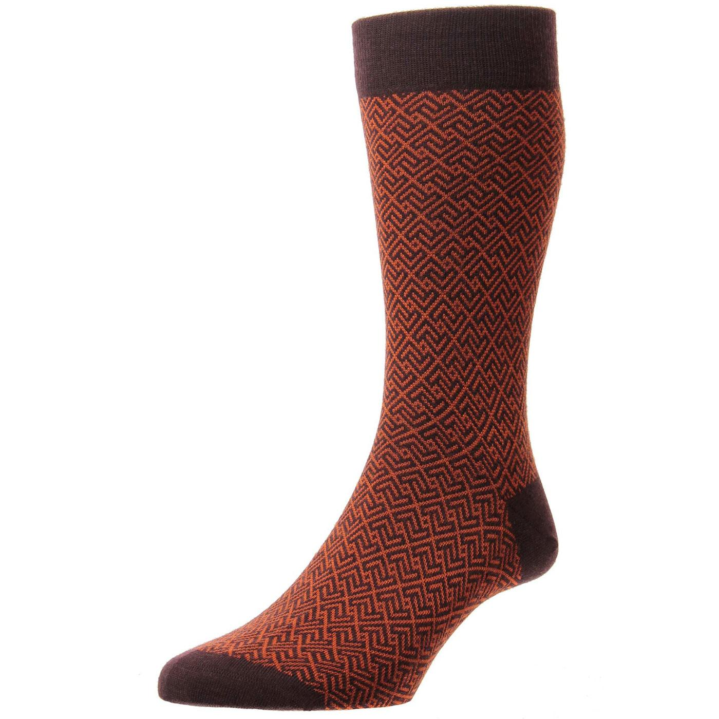+ Porter PANTHERELLA Men's Mod Pattern Socks M