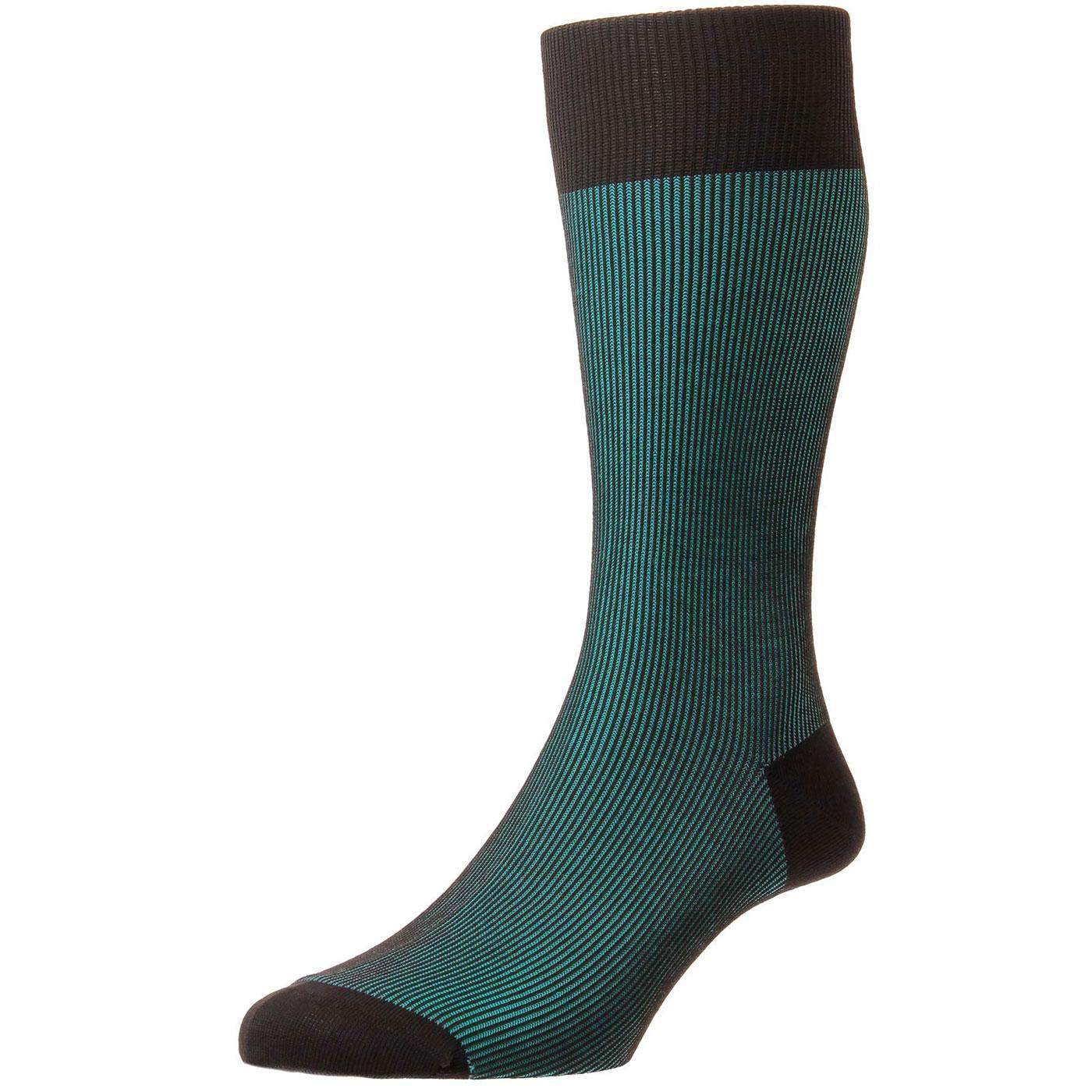 Pantherella Shadow Knit Socks in Green