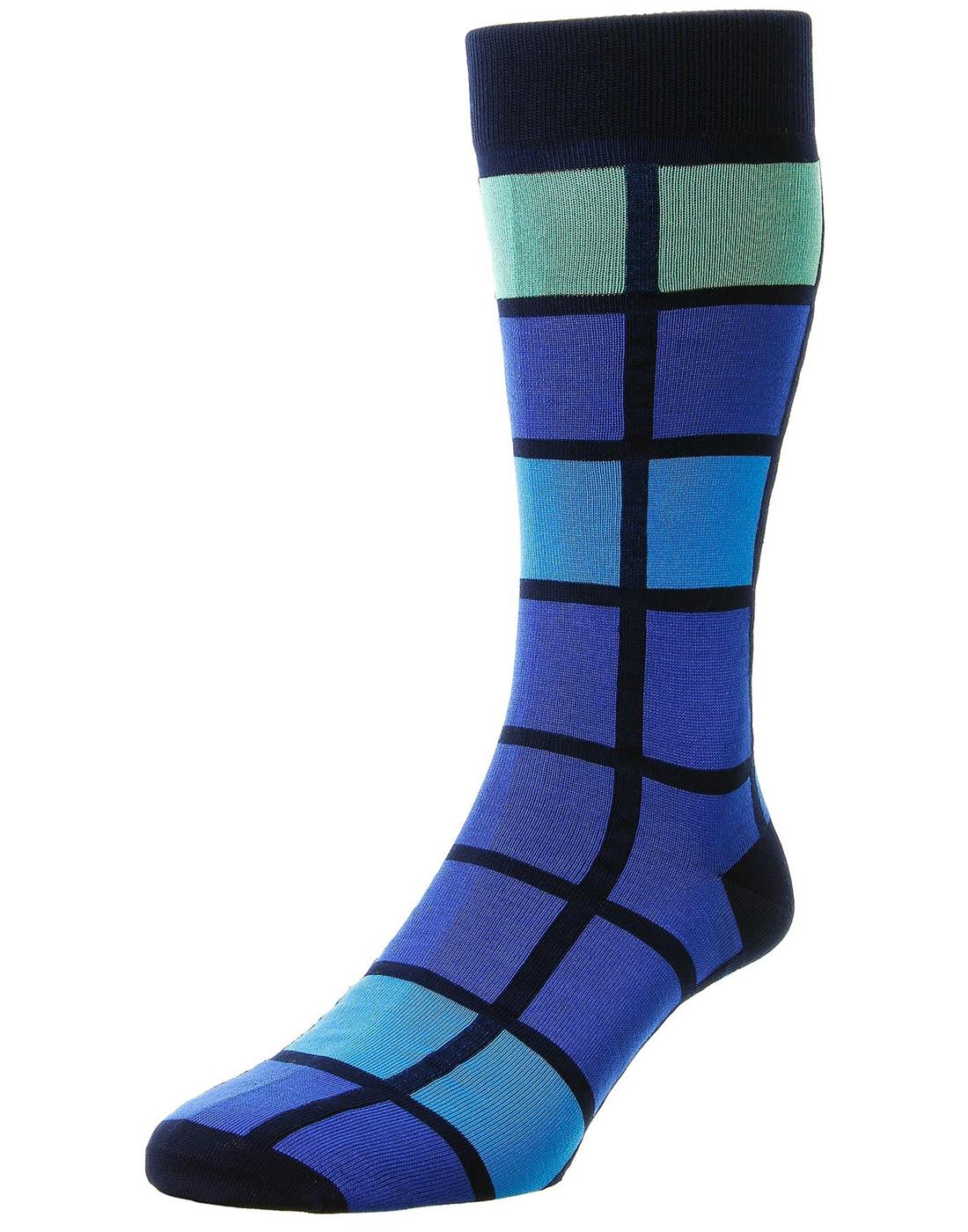 + Kauai PANTHERELLA Retro Windowpane Socks N