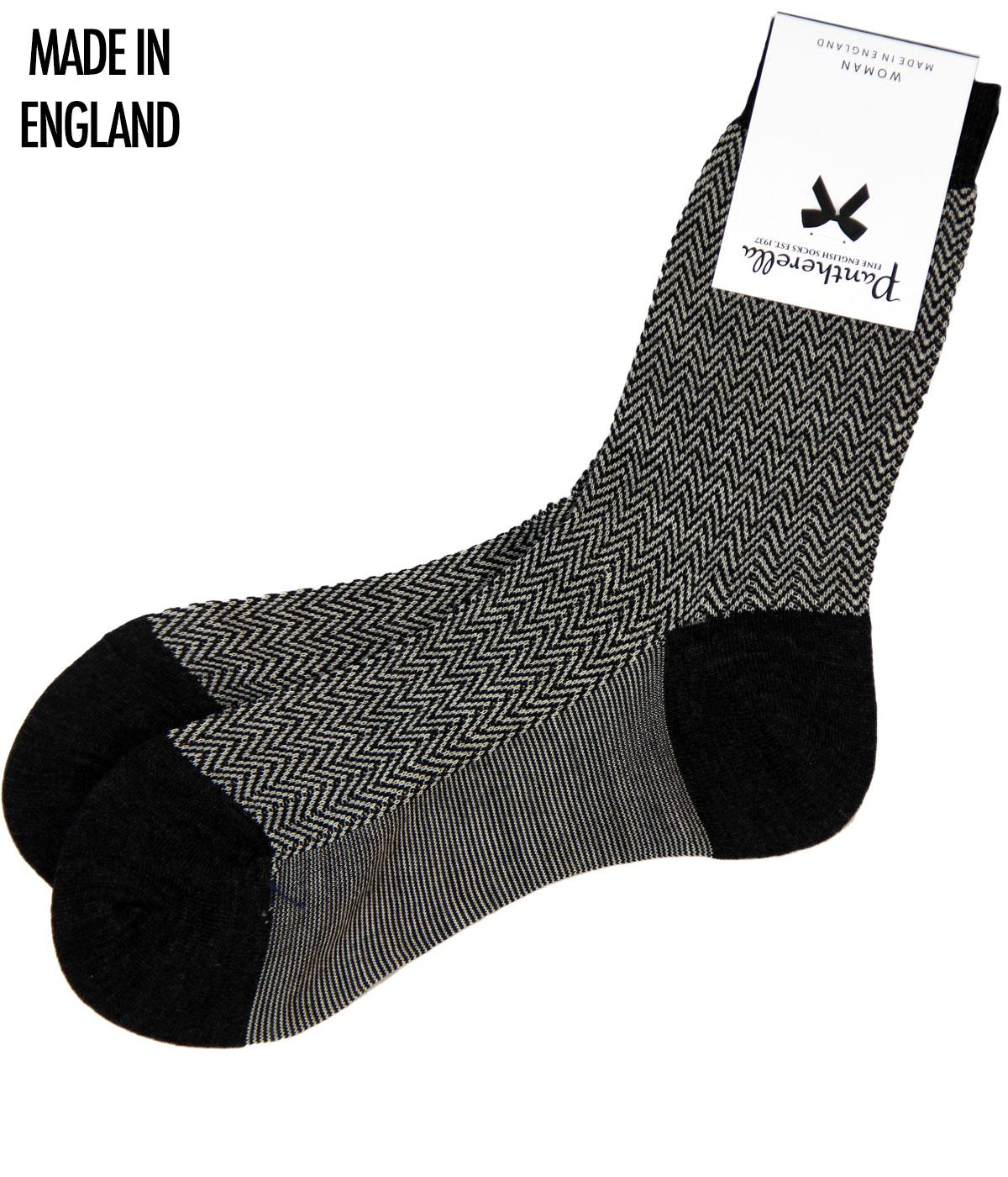 + Hatty Ankle PANTHERELLA Womens Herringbone Socks