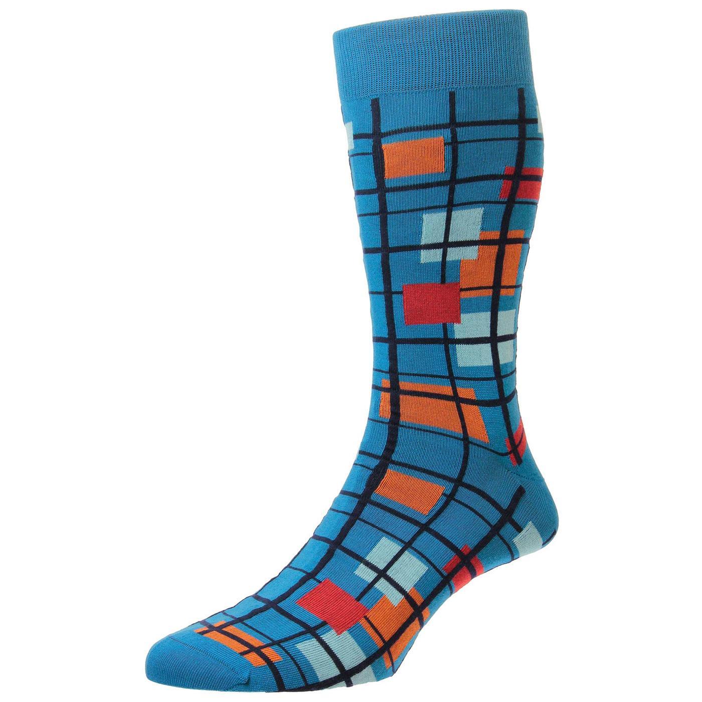 + Wright PANTHERELLA Mod Mondrian Check Socks (PB)