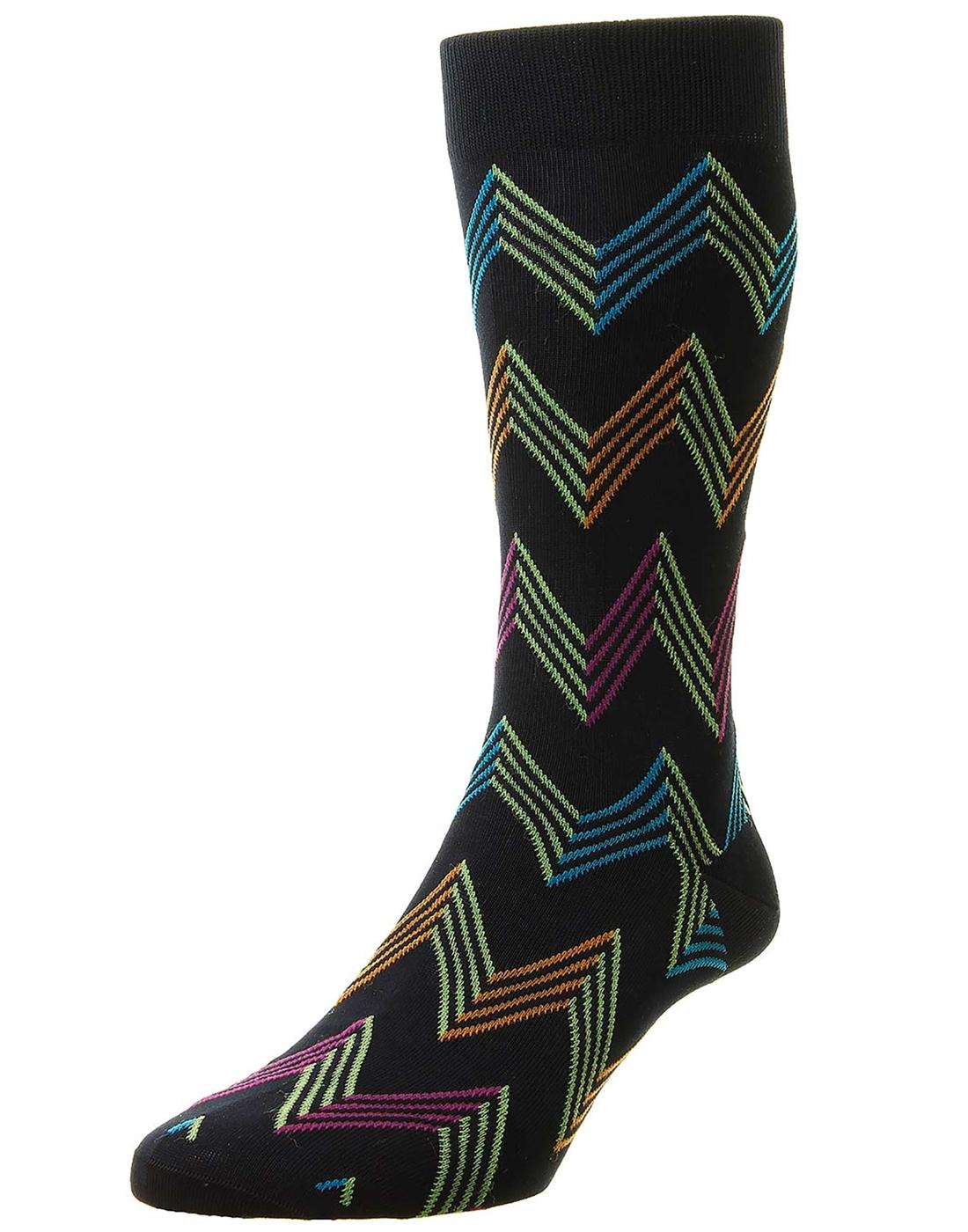 + Yasawa PANTHERELLA Men's Mod Zig Zag Socks N