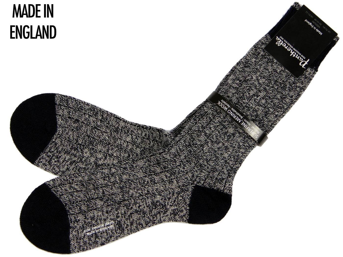 + Berwick PANTHERELLA Mod Chunky Knit Marl Socks