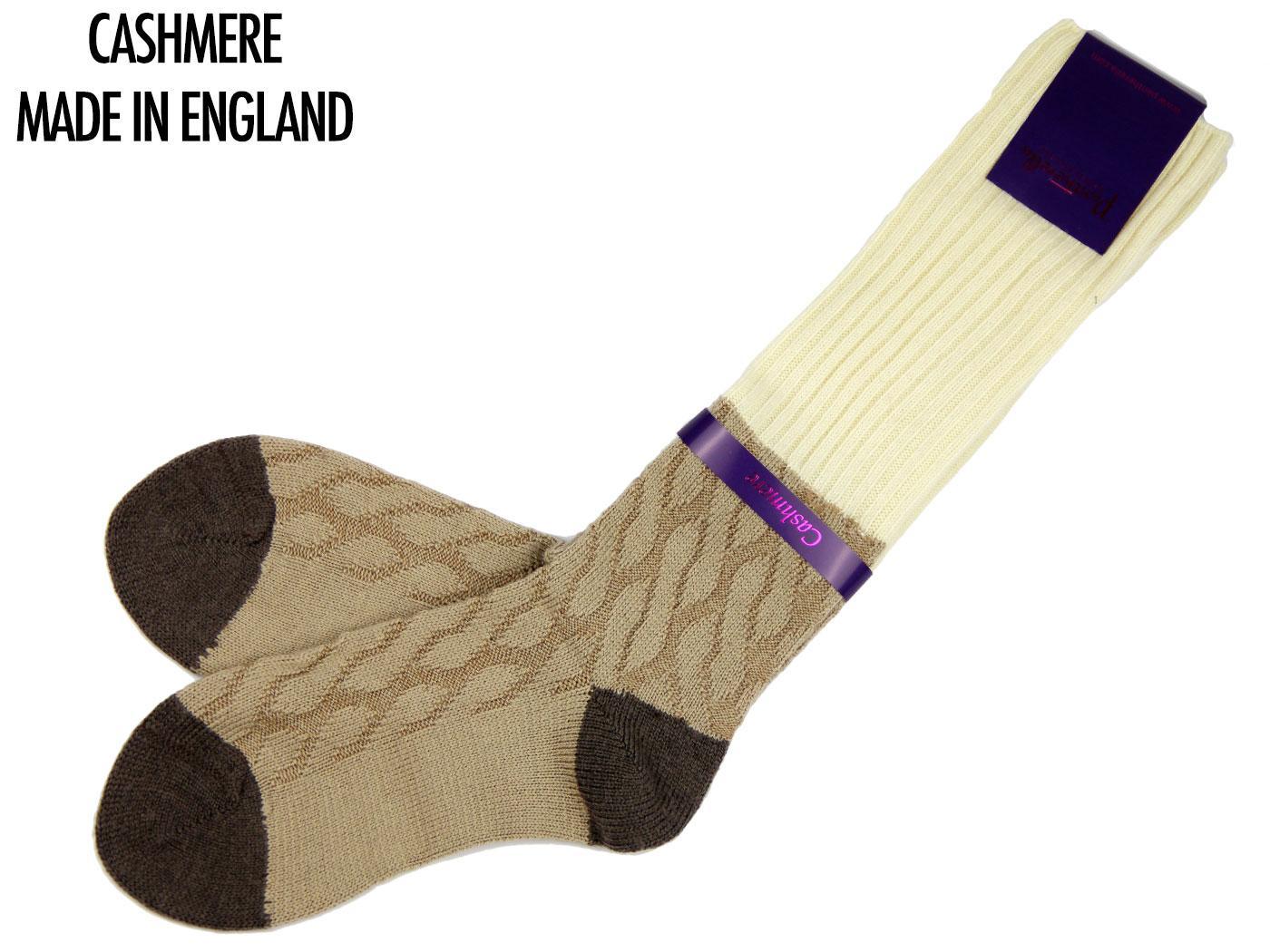 + Clara PANTHERELLA Retro Cashmere Knee High Socks