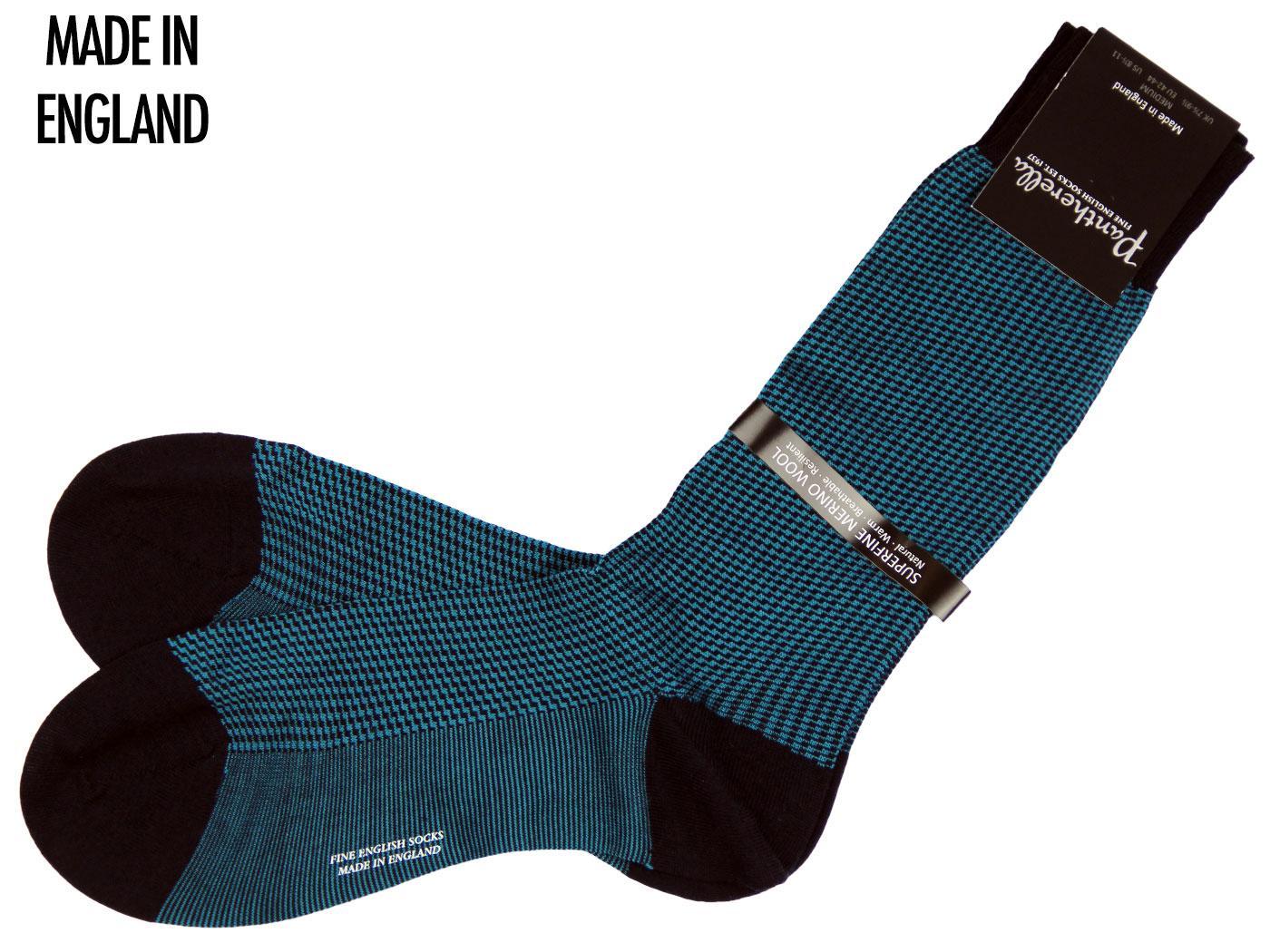 + Damien PANTHERELLA Mod Zig-Zag Socks NAVY