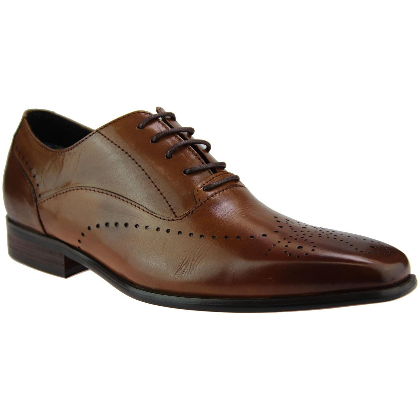 Coulter PAOLO VANDINI Mod Oxford Brogue Shoes TAN