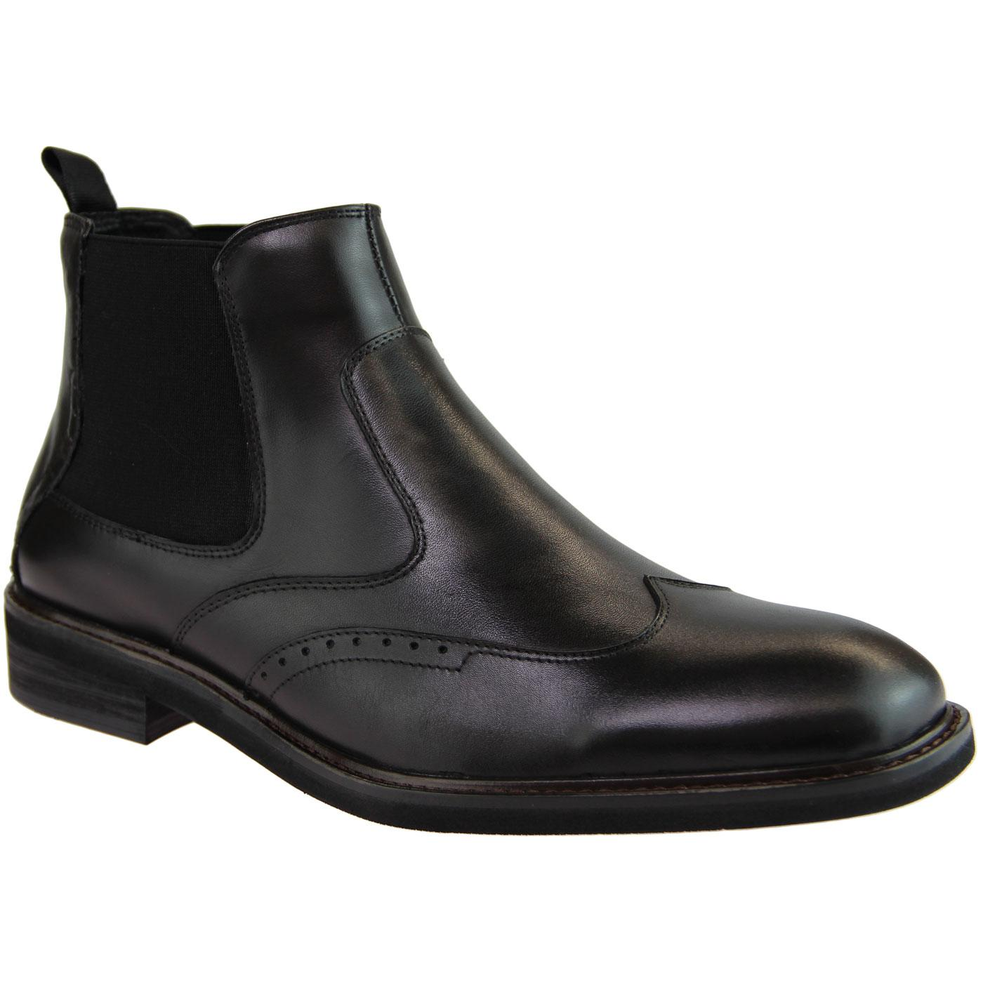 Crowley PAOLO VANDINI Mod Brogue Chelsea Boots (B)
