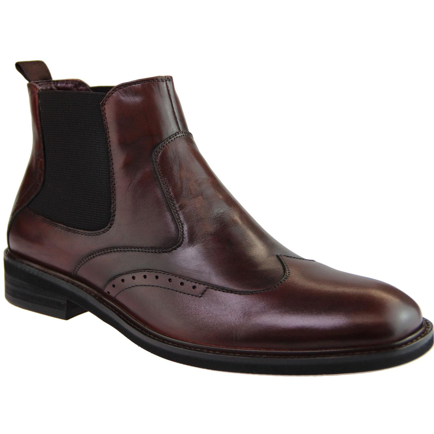Crowley PAOLO VANDINI Mod Brogue Chelsea Boots (W)