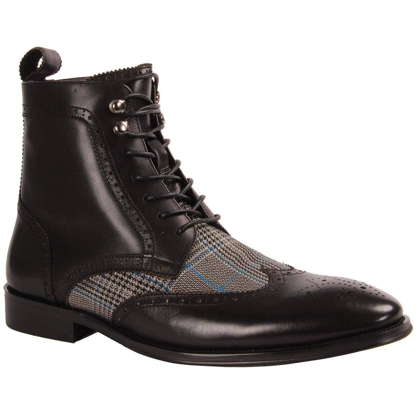 Ebenezer PAOLO VANDINI POW Check Brogue Boots (B)