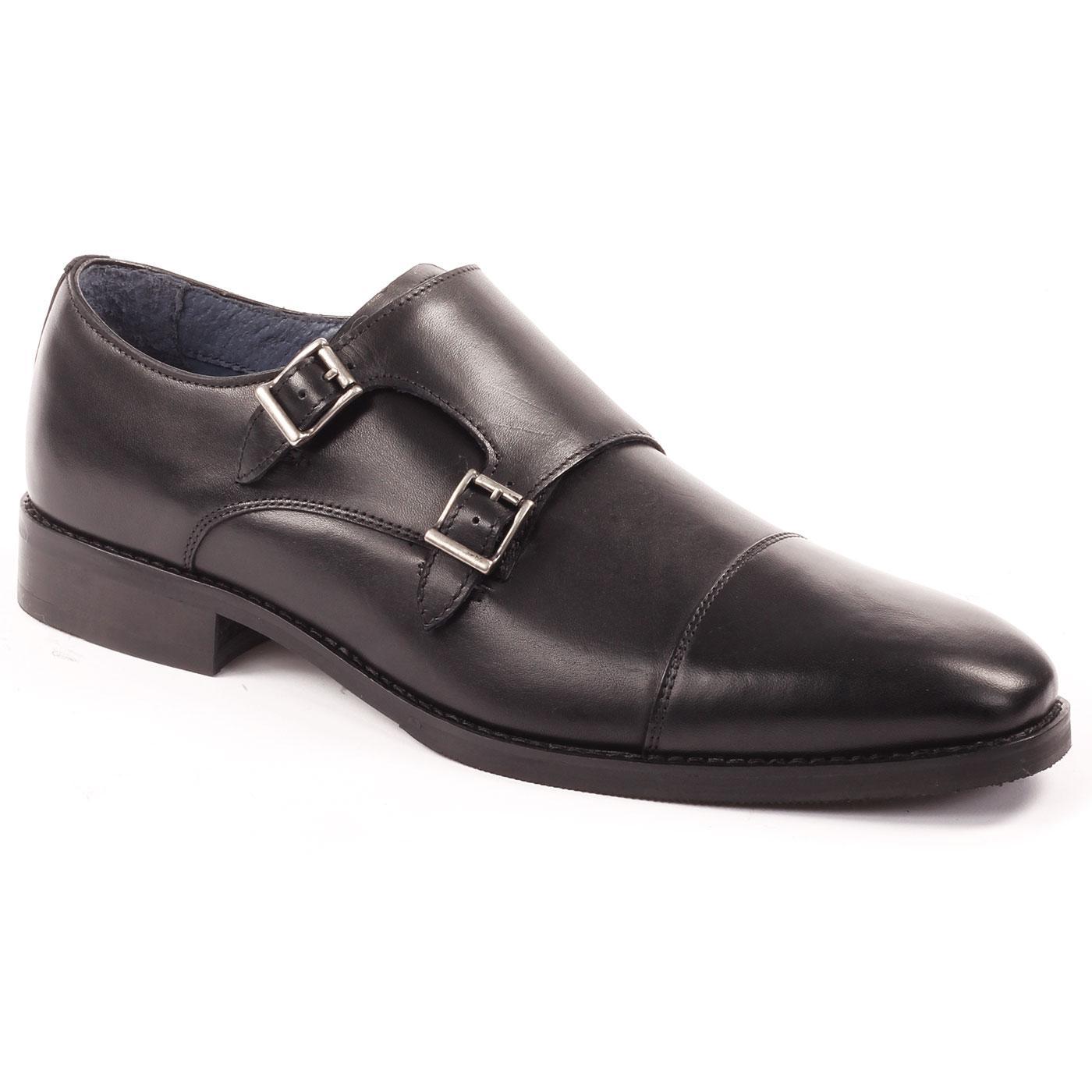 Ellington PAOLO VANDINI Mod Leather Monk Shoes