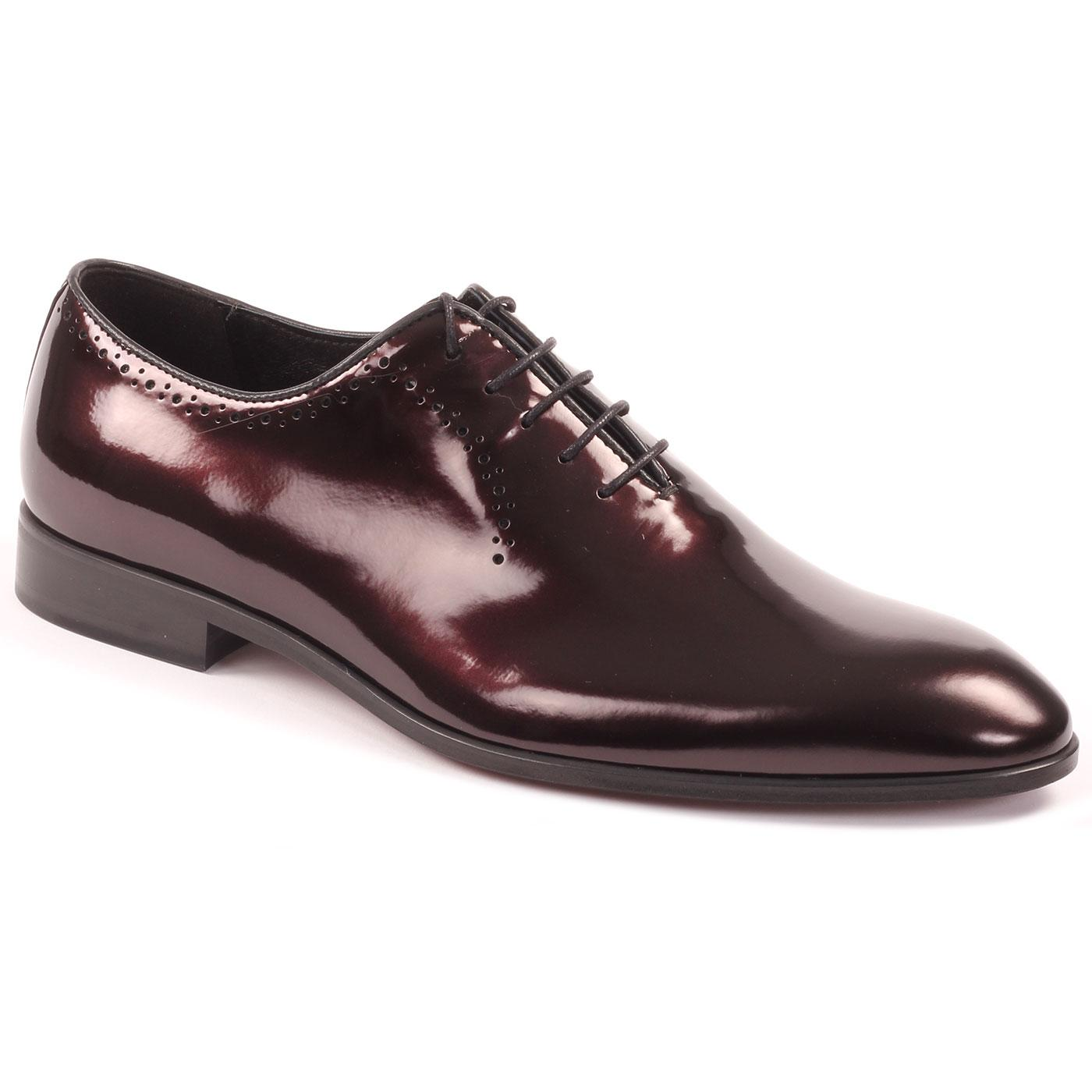 LACUZZO Retro Metallic Leather Brogue Dress Shoes