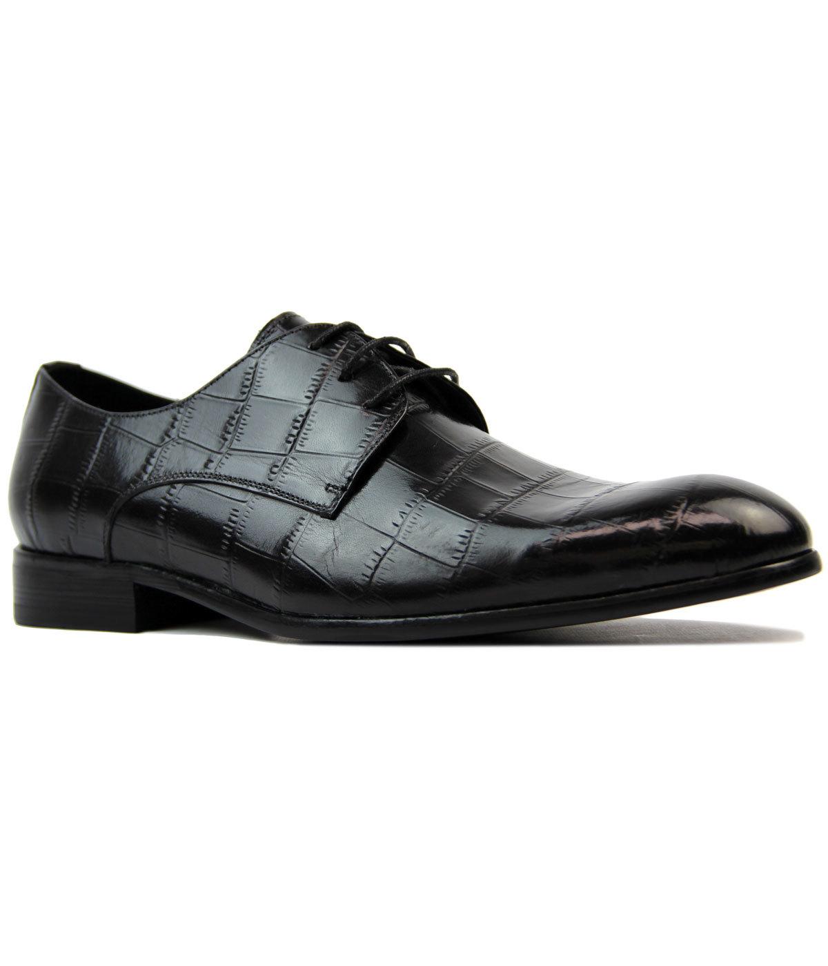Padbury PAOLO VANDINI Retro Croc Stamp Dress Shoes