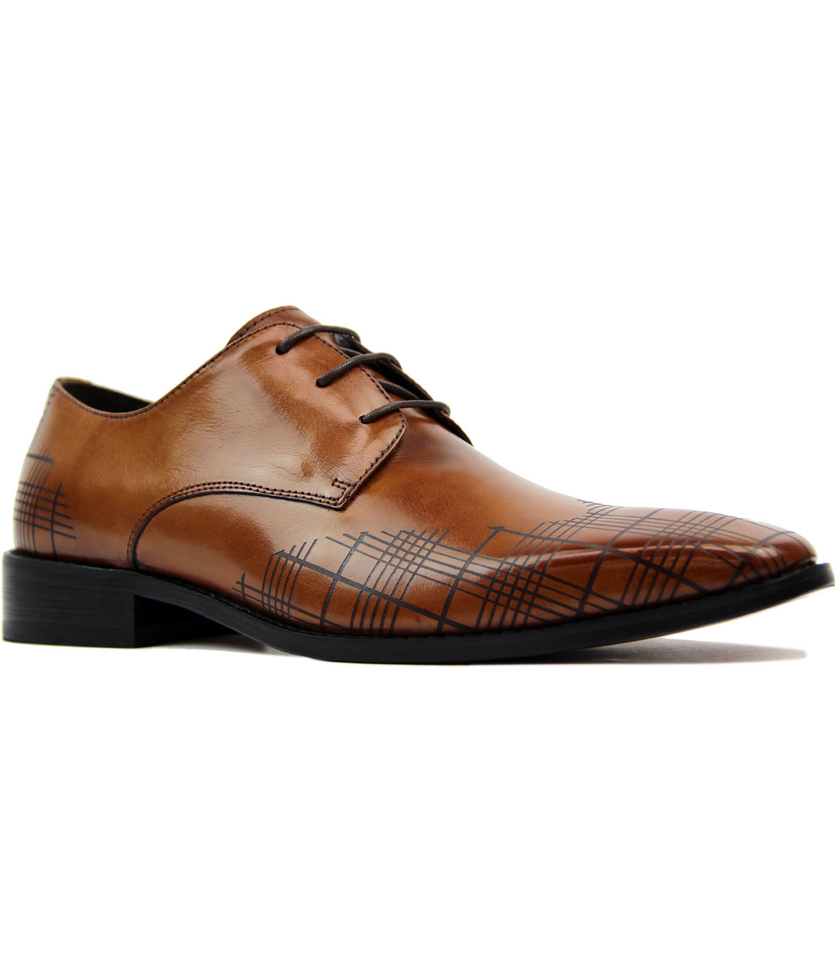 Palfrey PAOLO VANDINI Plaid Check Wing Cap Brogues