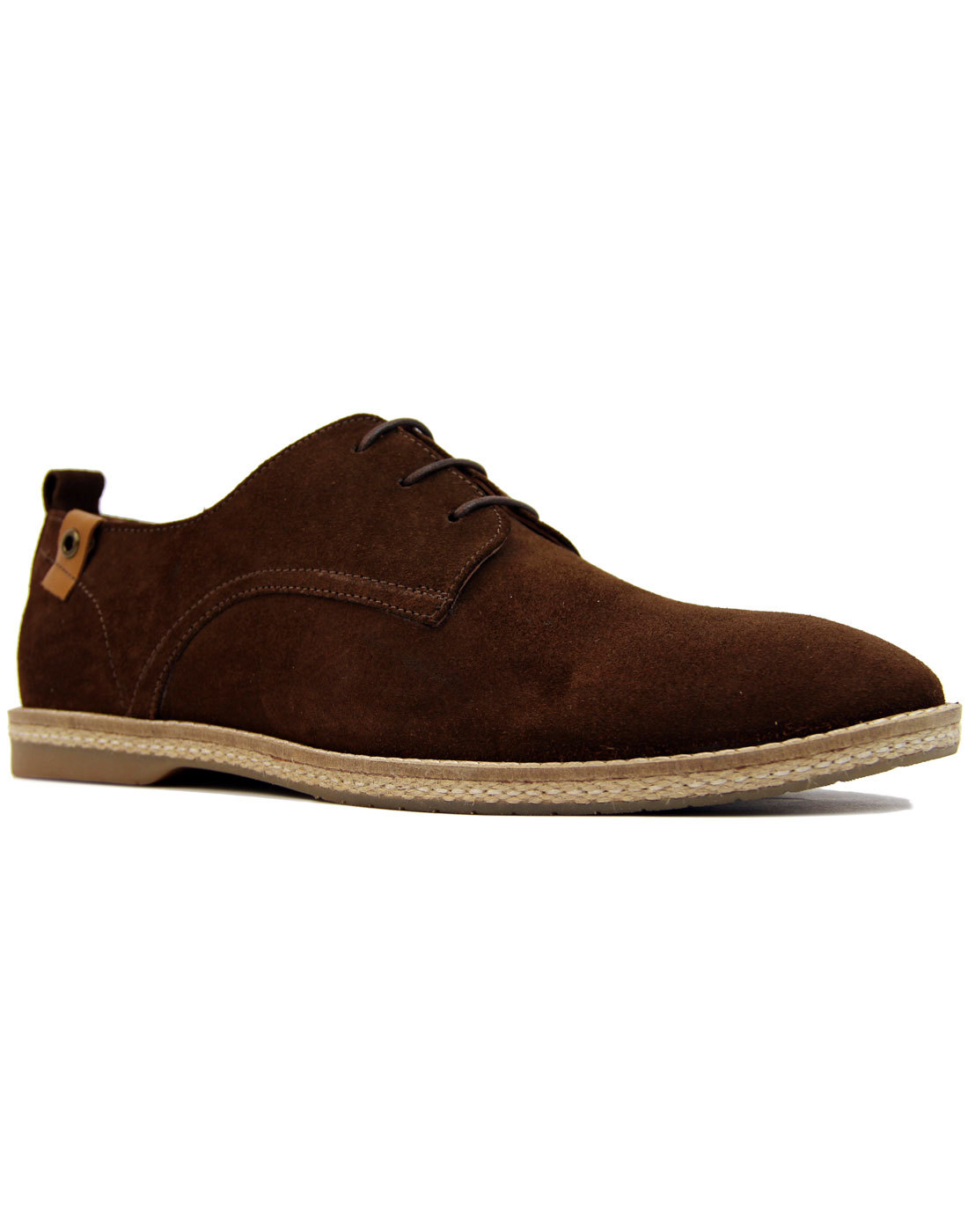 Ramsey PAOLO VANDINI Retro Mod Suede Derby Shoes B