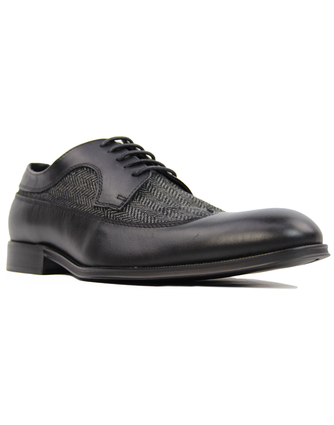 Roberto PAOLO VANDINI Derby Tweed Leather Shoes