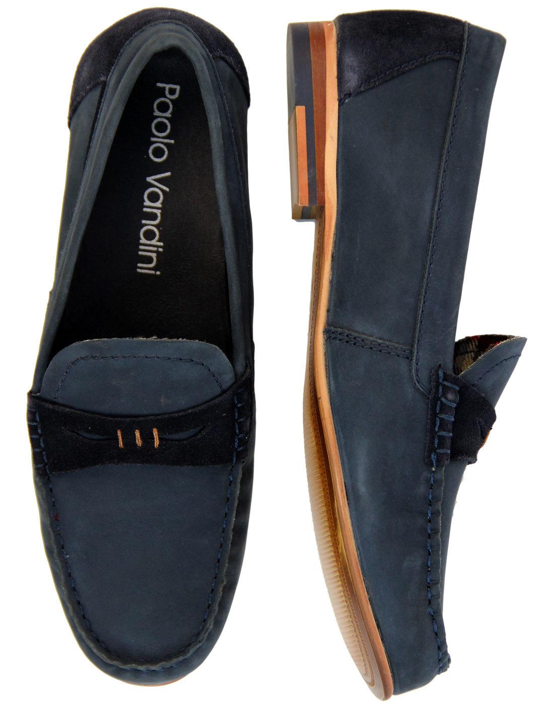 Rushil PAOLO VANDINI 60s Mod Nubuck Penny Loafers