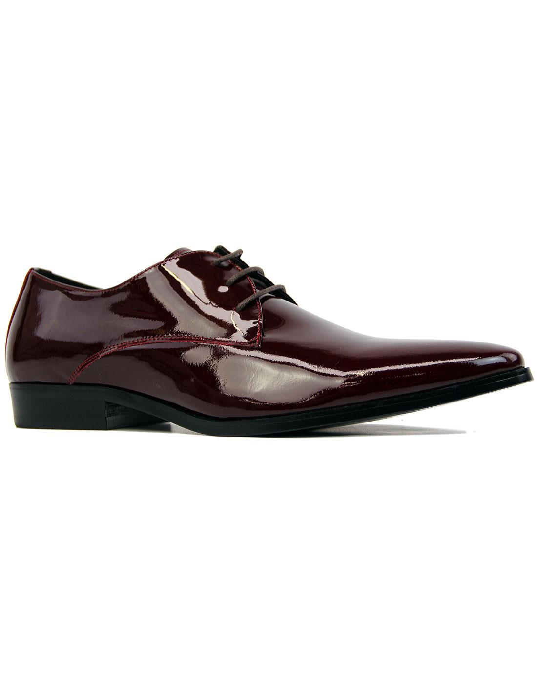 Sai Lace PAOLO VANDINI Patent Leather Shoes BORDO