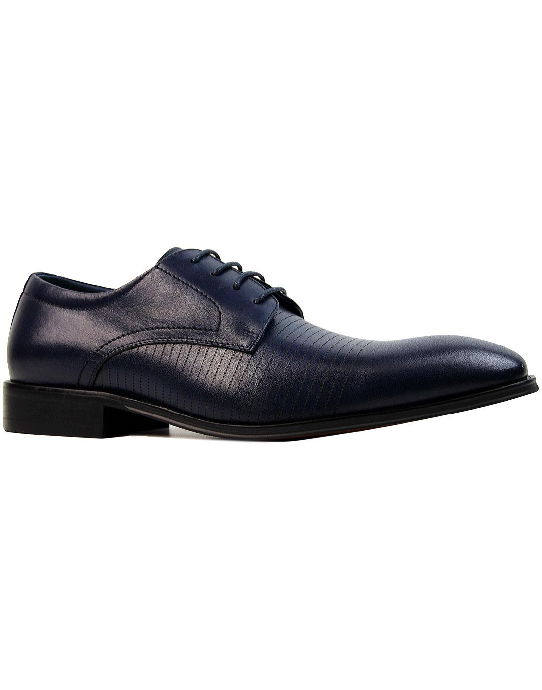 Stu Lace PAOLO VANDINI 60s Mod Pinstripe Shoes (N)