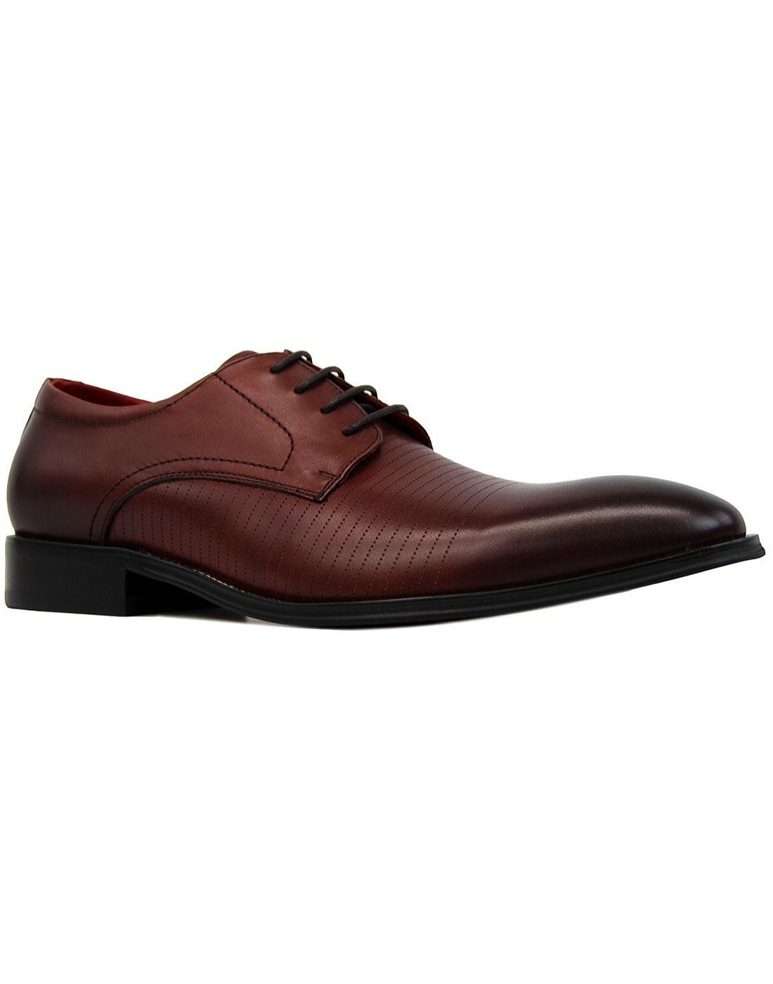 Stu Lace PAOLO VANDINI 60s Mod Pinstripe Shoes (W)