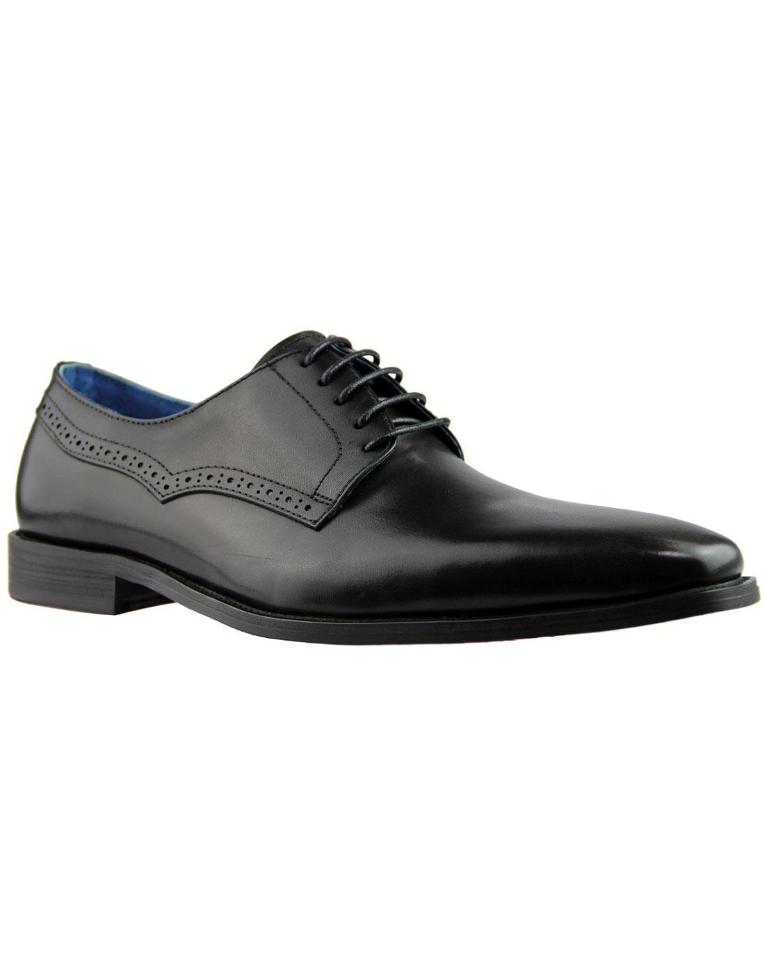 Ted PAOLO VANDINI Retro Mod Square Toe Dress Shoes