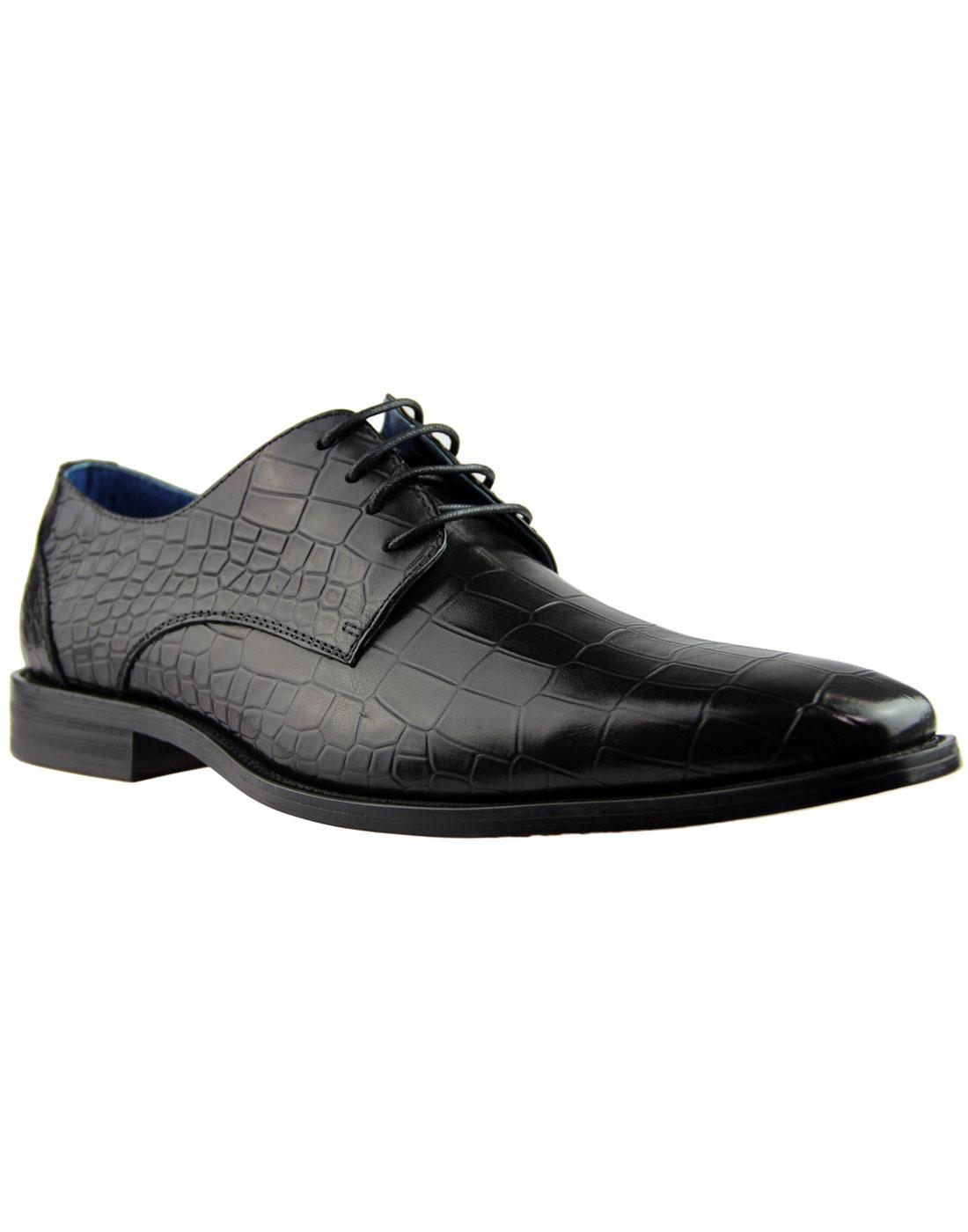 Teilo PAOLO VANDINI Croc Stamp Chisel Toe Shoes B
