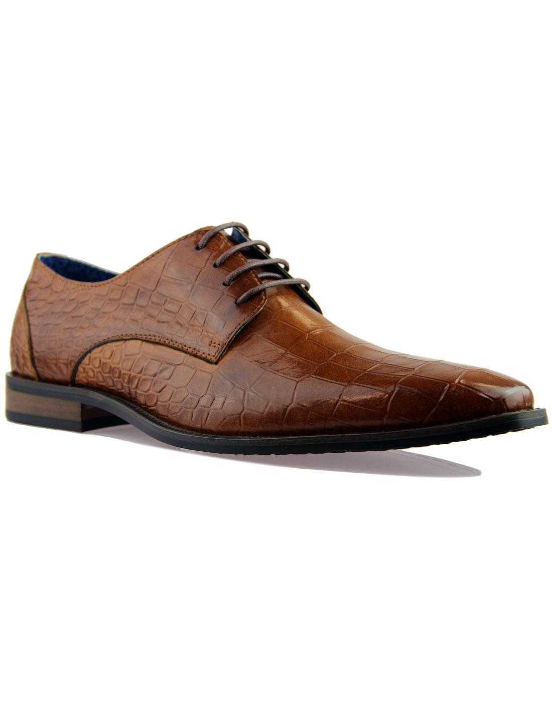 Teilo PAOLO VANDINI Croc Stamp Chisel Toe Shoes T