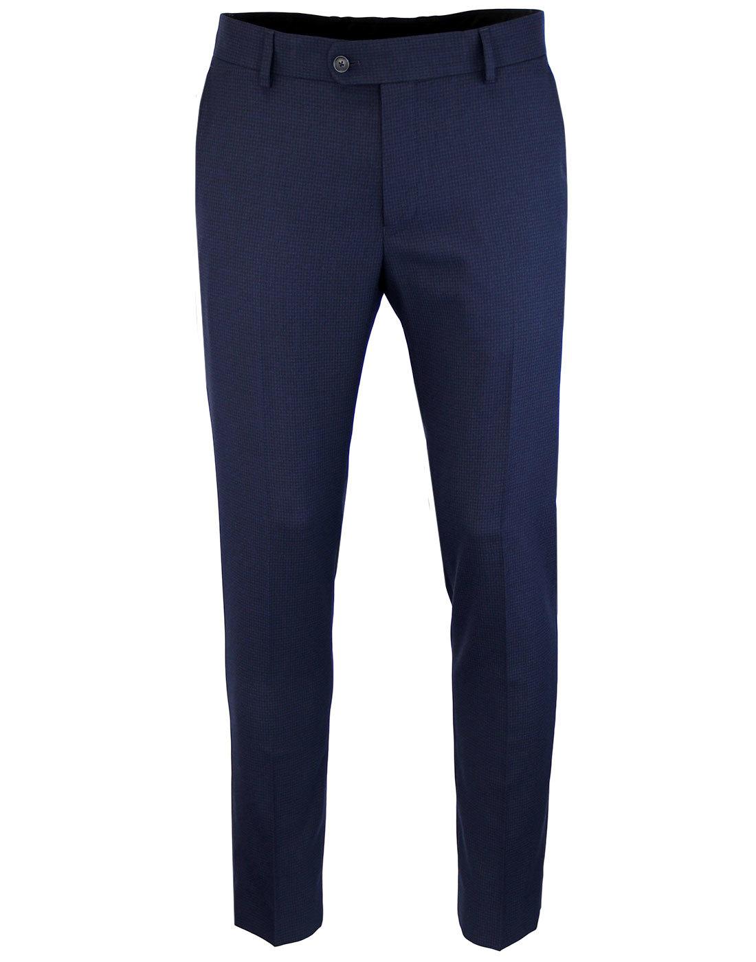 Men's Retro 1960s Mod Puppytooth Suit Trousers