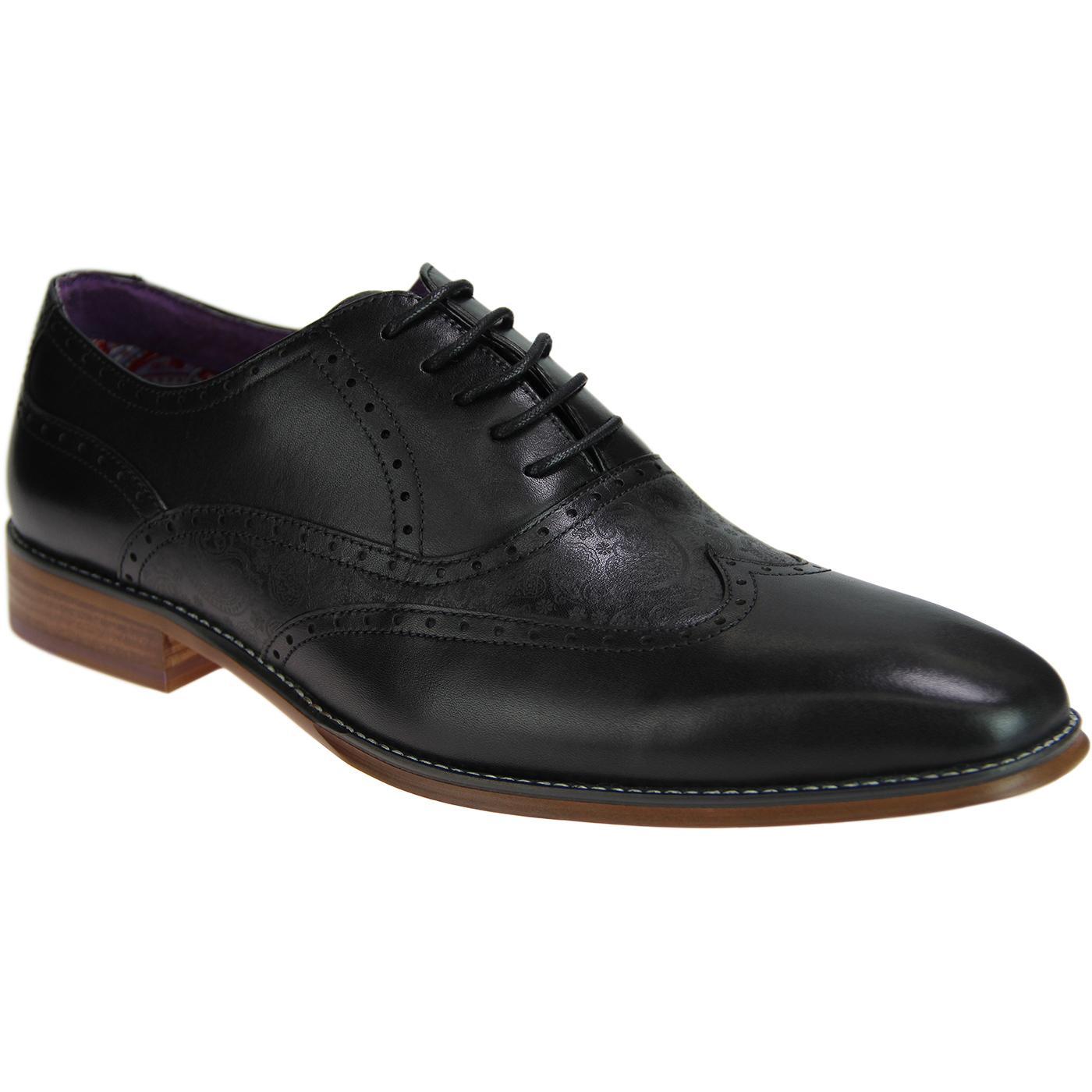 Daxon PAOLO VANDINI Retro Mod Paisley Oxford shoes