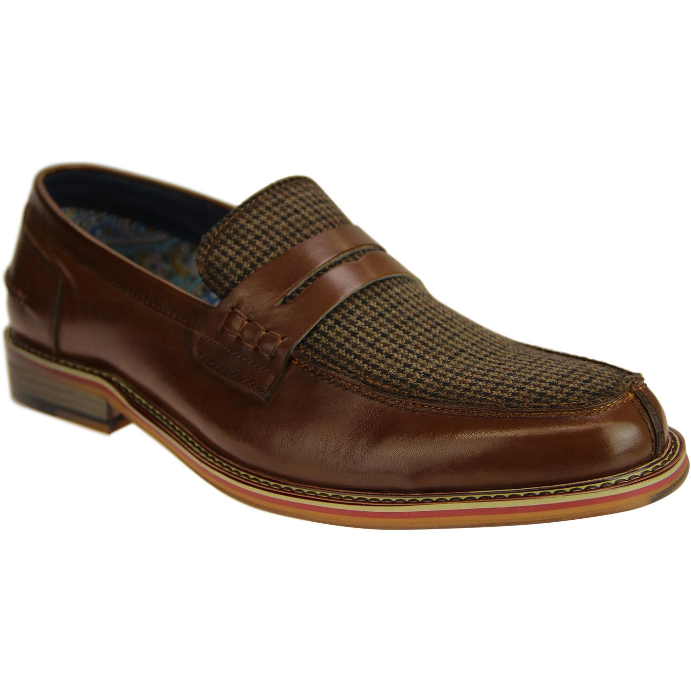 Dennis PAOLO VANDINI 60's Mod Tweed Penny Loafers