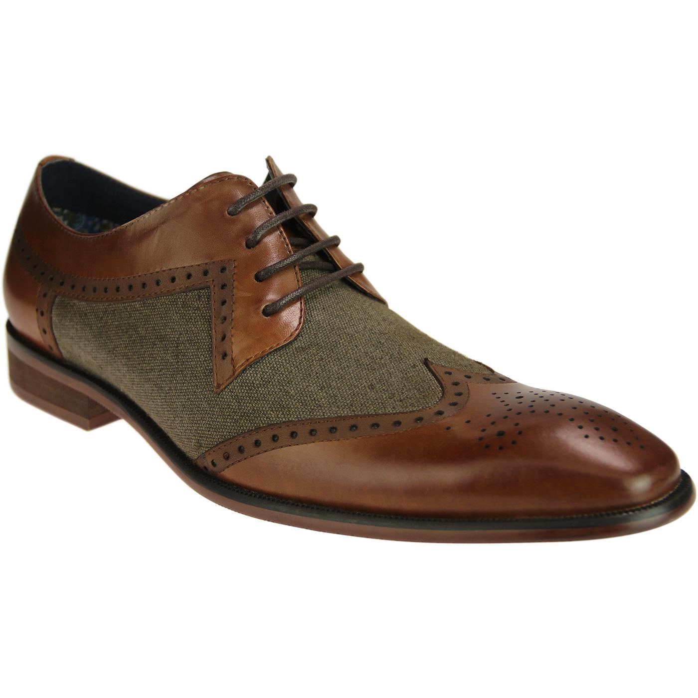 Nyland PAOLO VANDINI Mod Canvas/Leather Brogues T