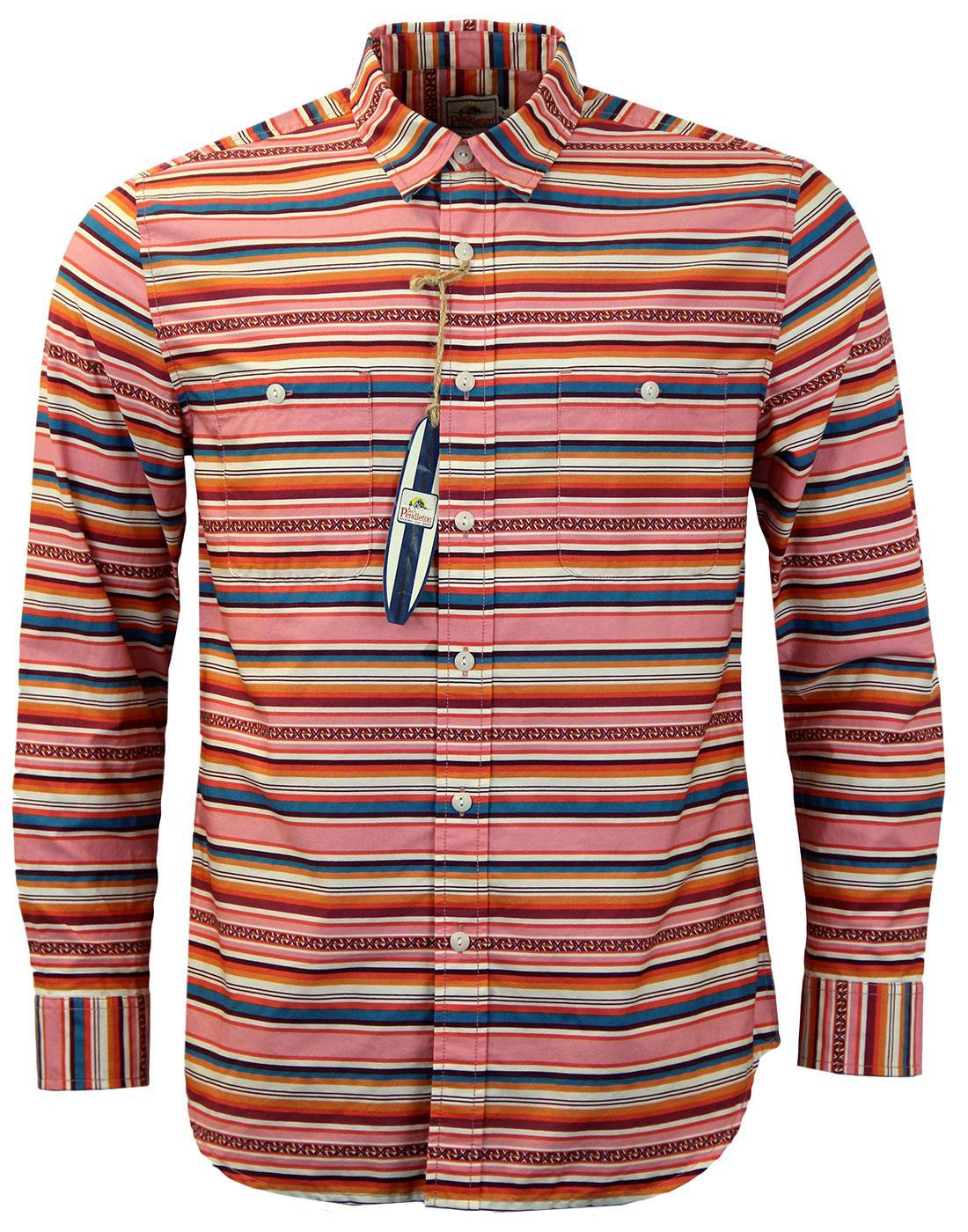 PENDLETON Serape Surf Stripe Retro 60s Board Shirt