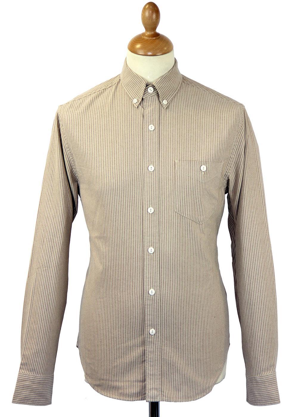 Lowell Pendleton Retro Mod Stripe Oxford Shirt (R)