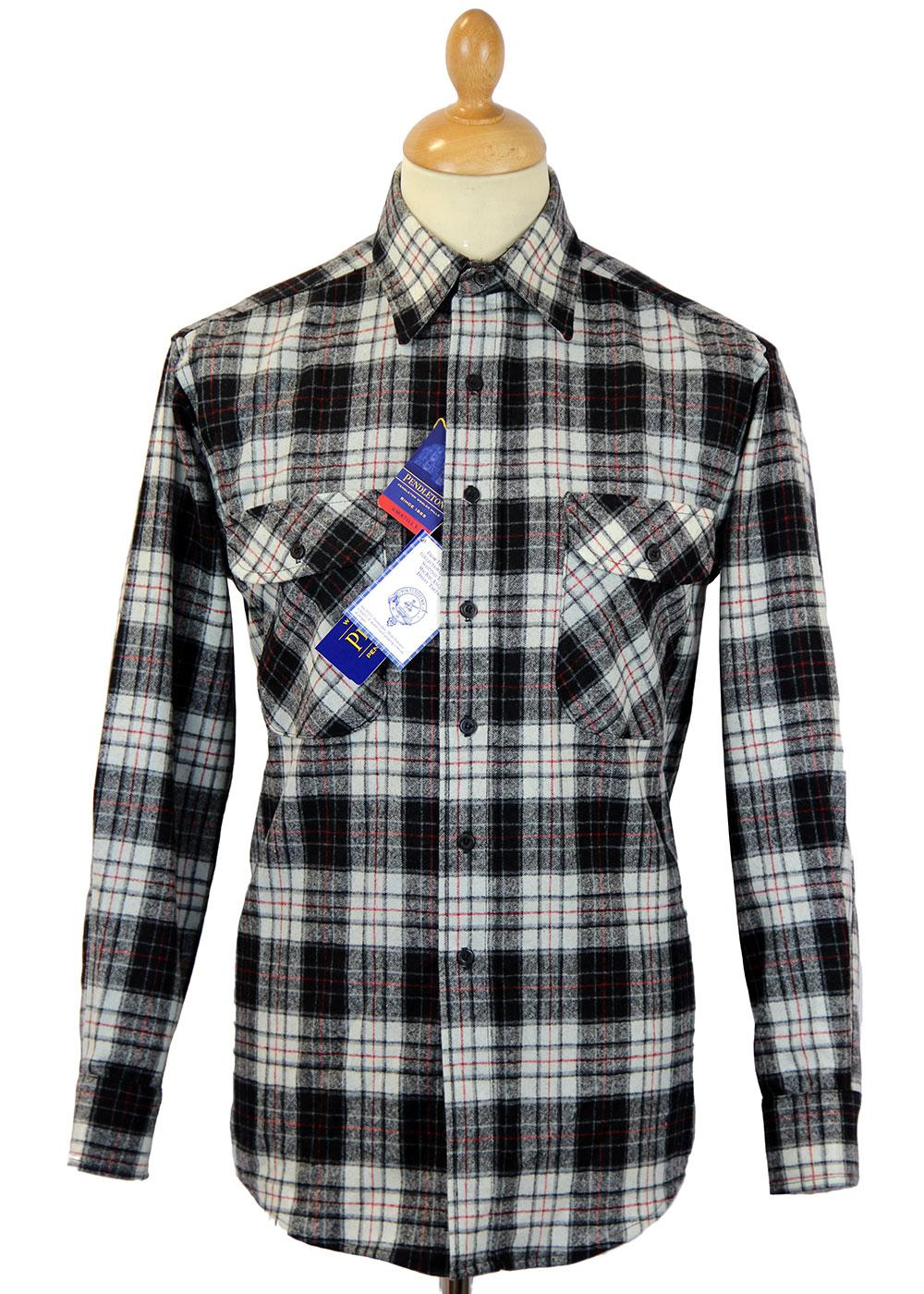 PENDLETON Retro MacRae Tartan Fireside Shirt BLACK