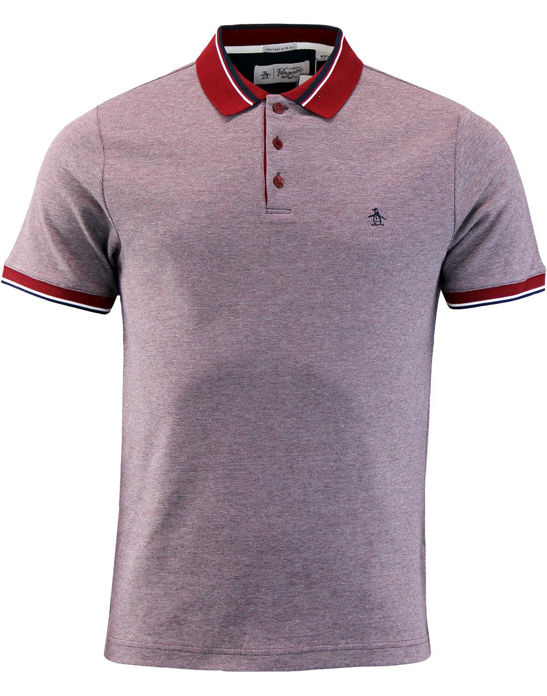 Tricolour Birdseye ORIGINAL PENGUIN Pique Polo Top