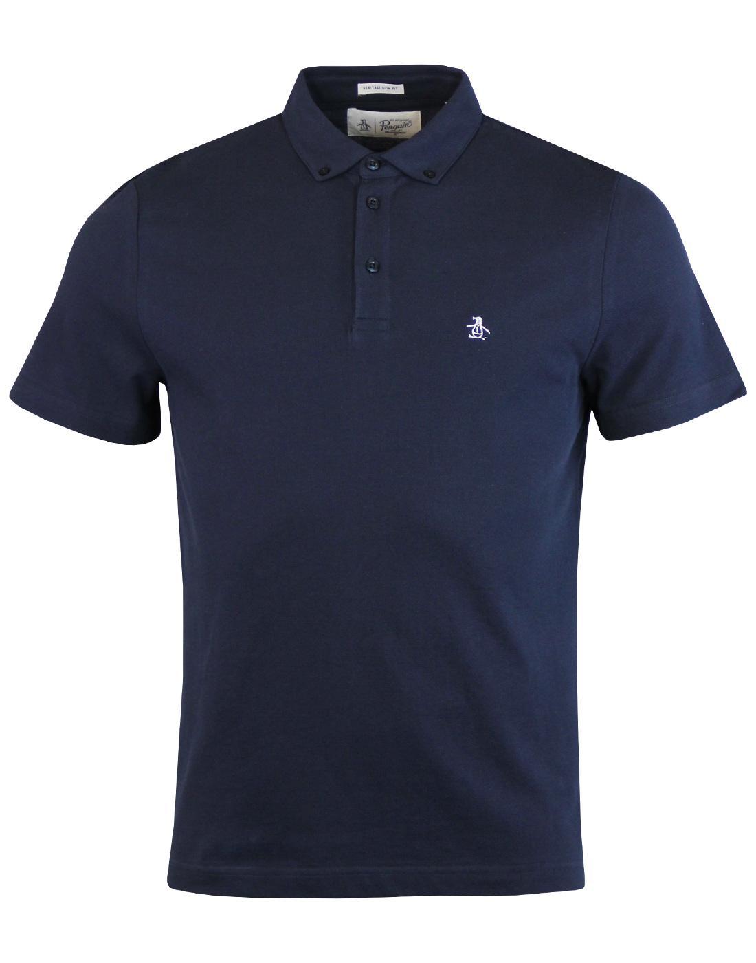 ORIGINAL PENGUIN Mod Button Down Pique Polo Shirt